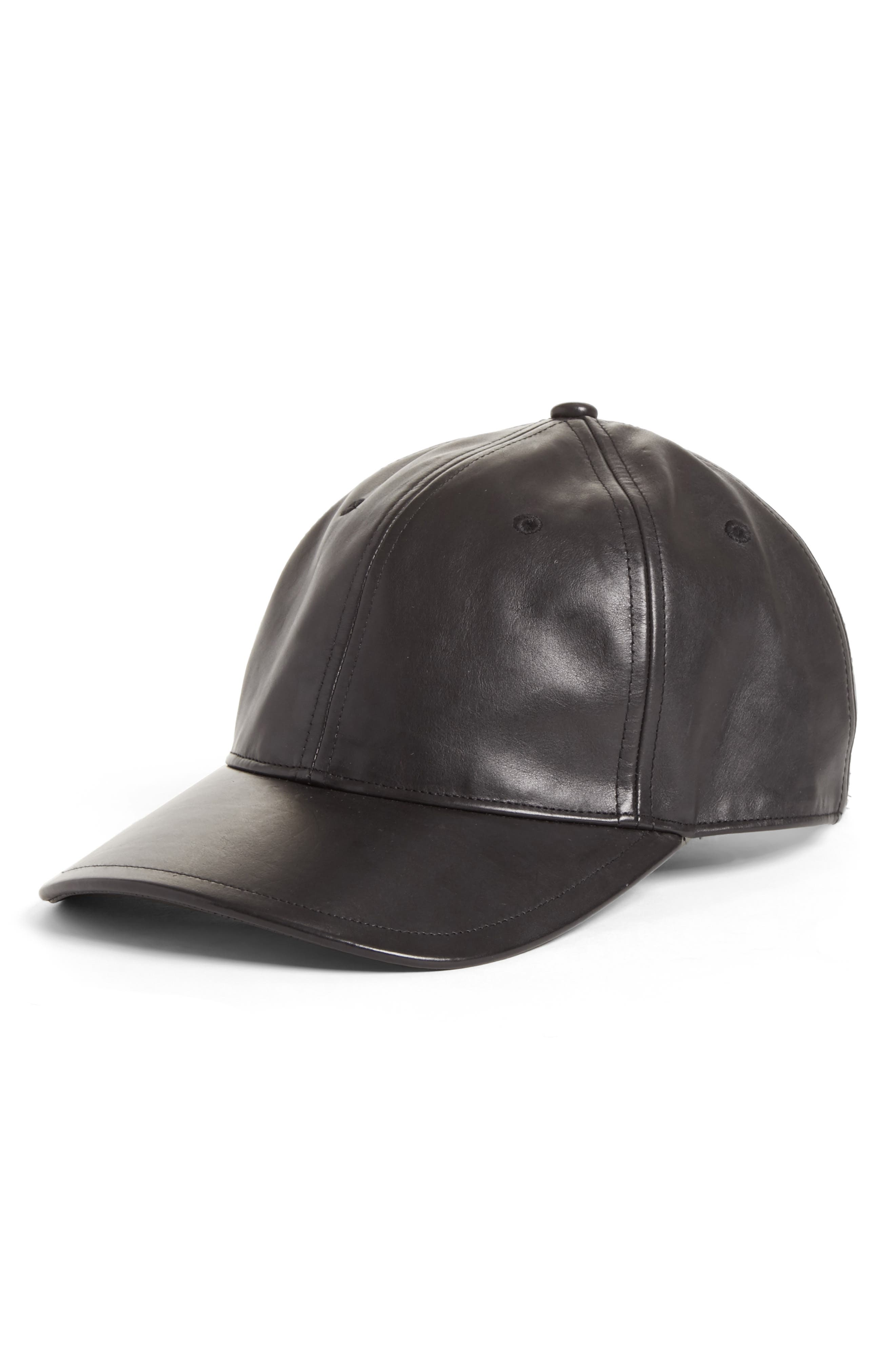 RAG & BONE Lennox Leather Baseball Cap
