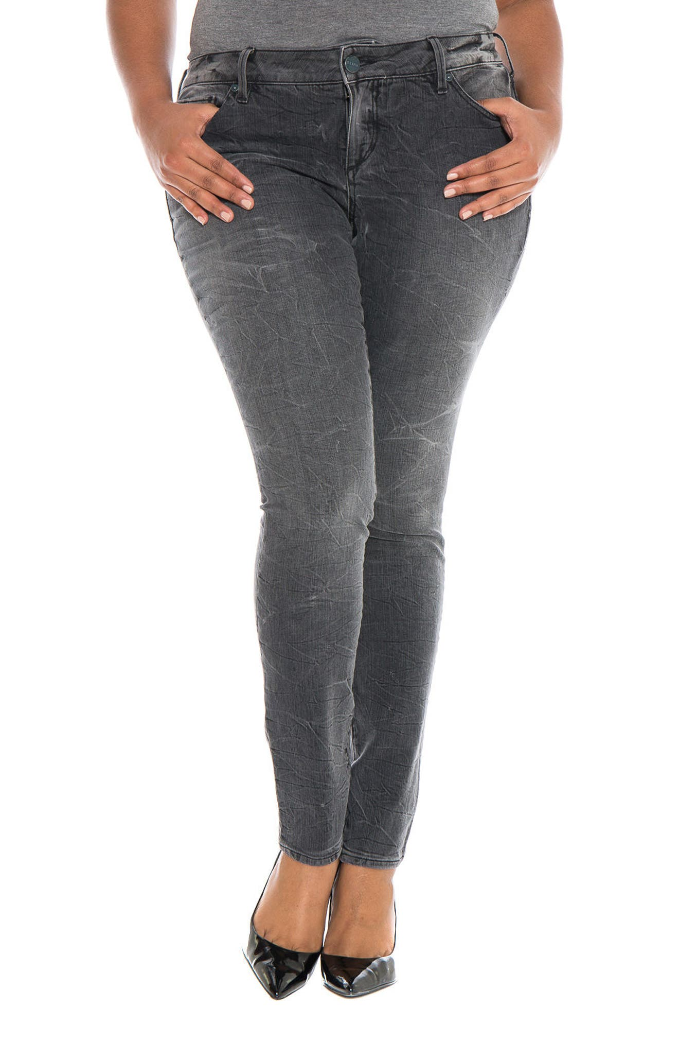 Main Image - SLINK Jeans Stretch Skinny Jeans (Caitlin) (Plus Size)