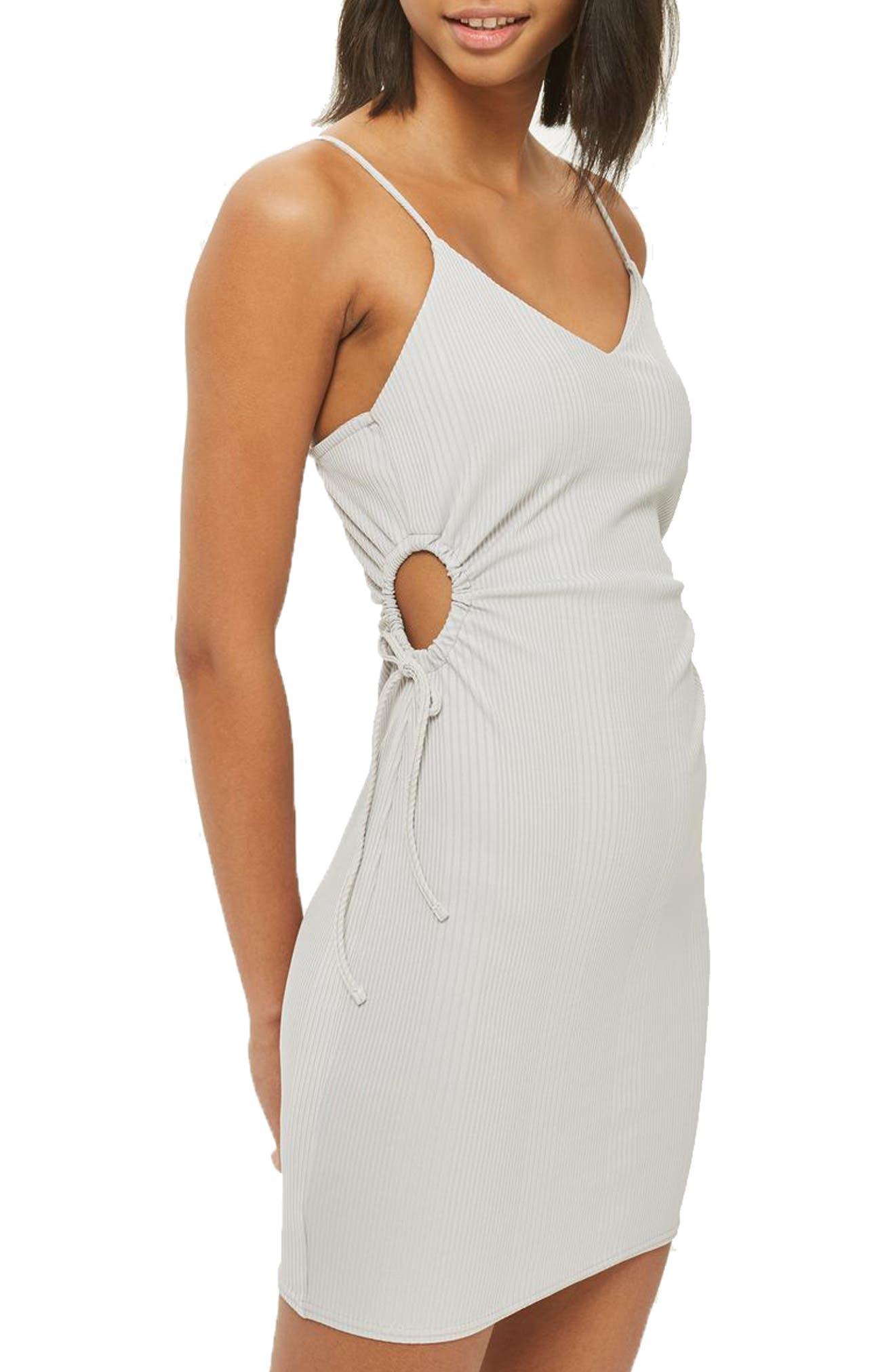 Topshop Drawstring Cutout Body-Con Dress