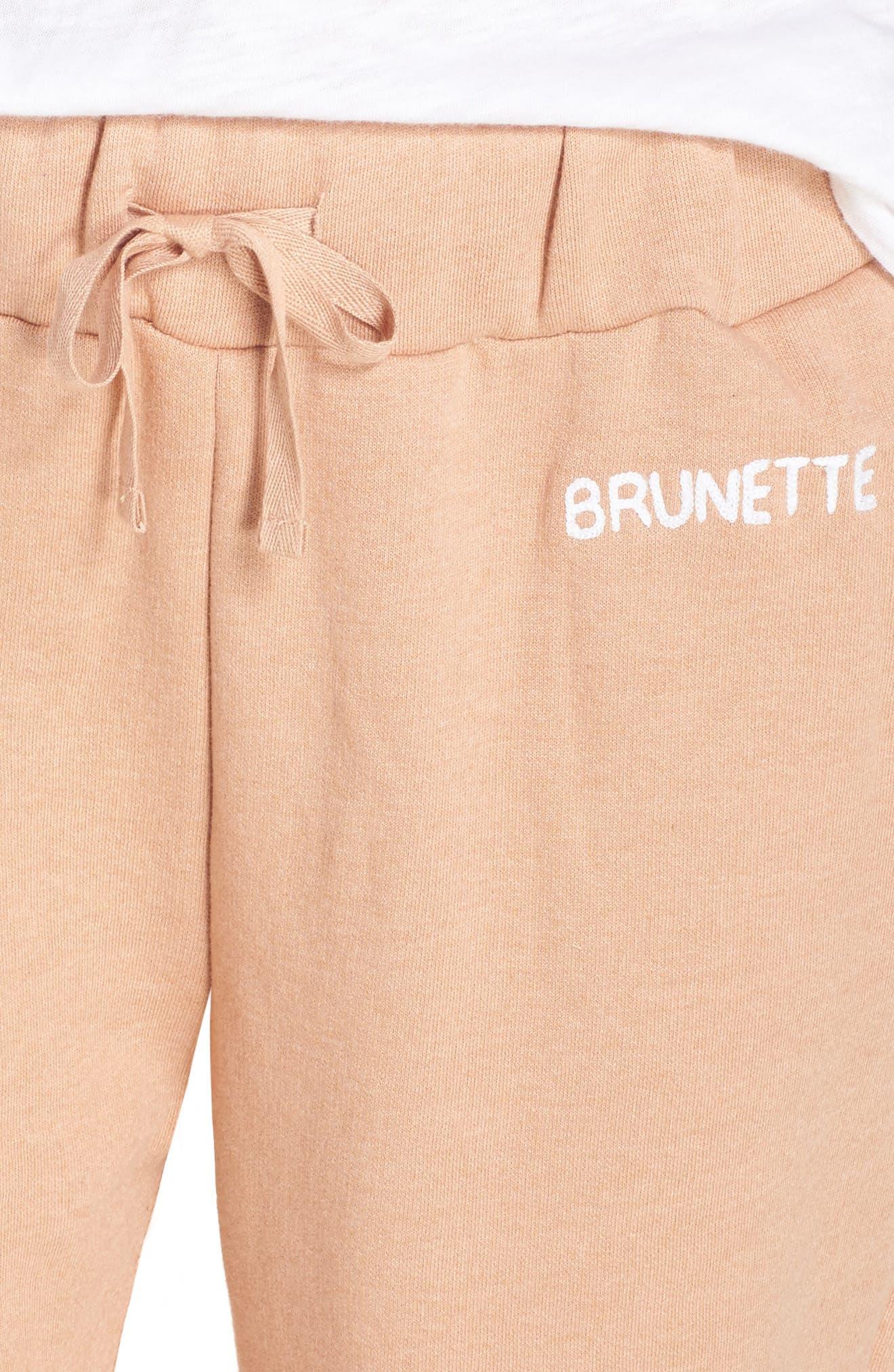Brunette Jogger Pants,                             Alternate thumbnail 4, color,                             Rose