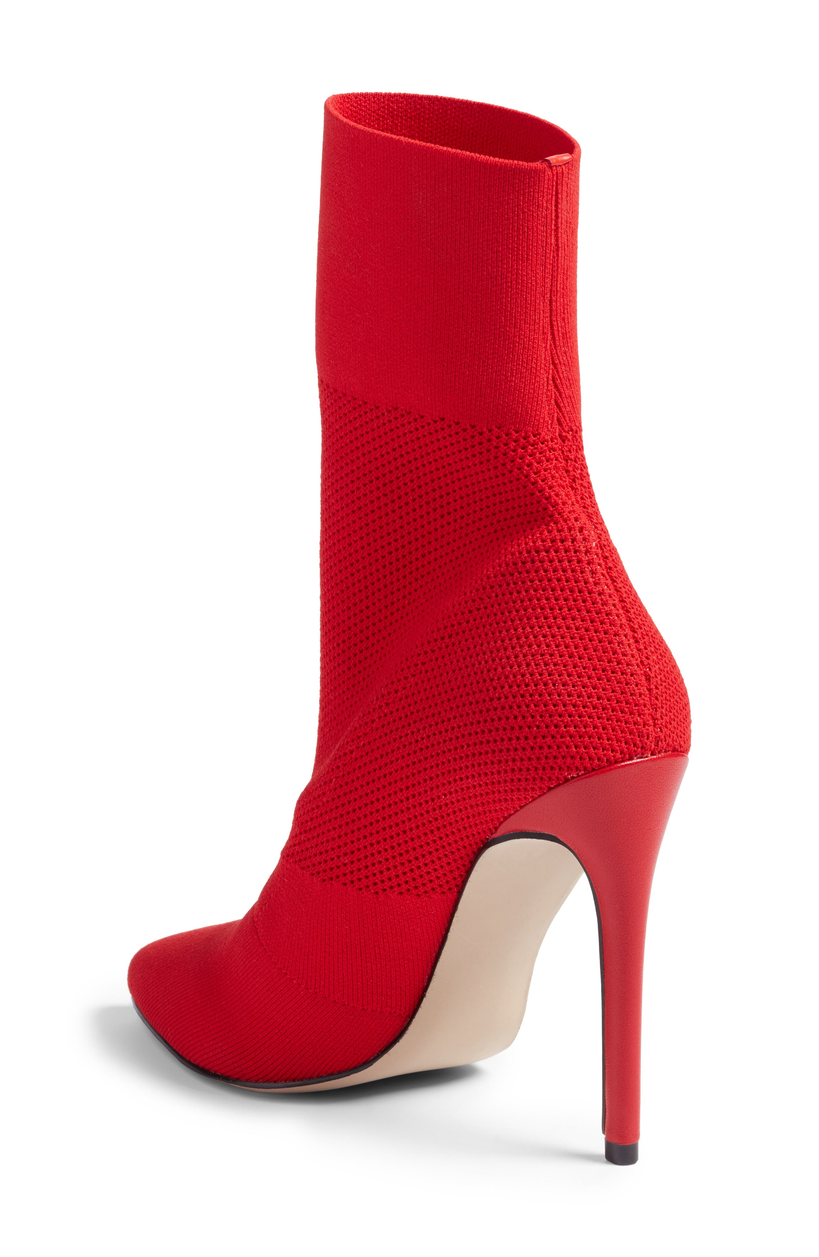 Century Woven Bootie,                             Alternate thumbnail 2, color,                             Red Fabric