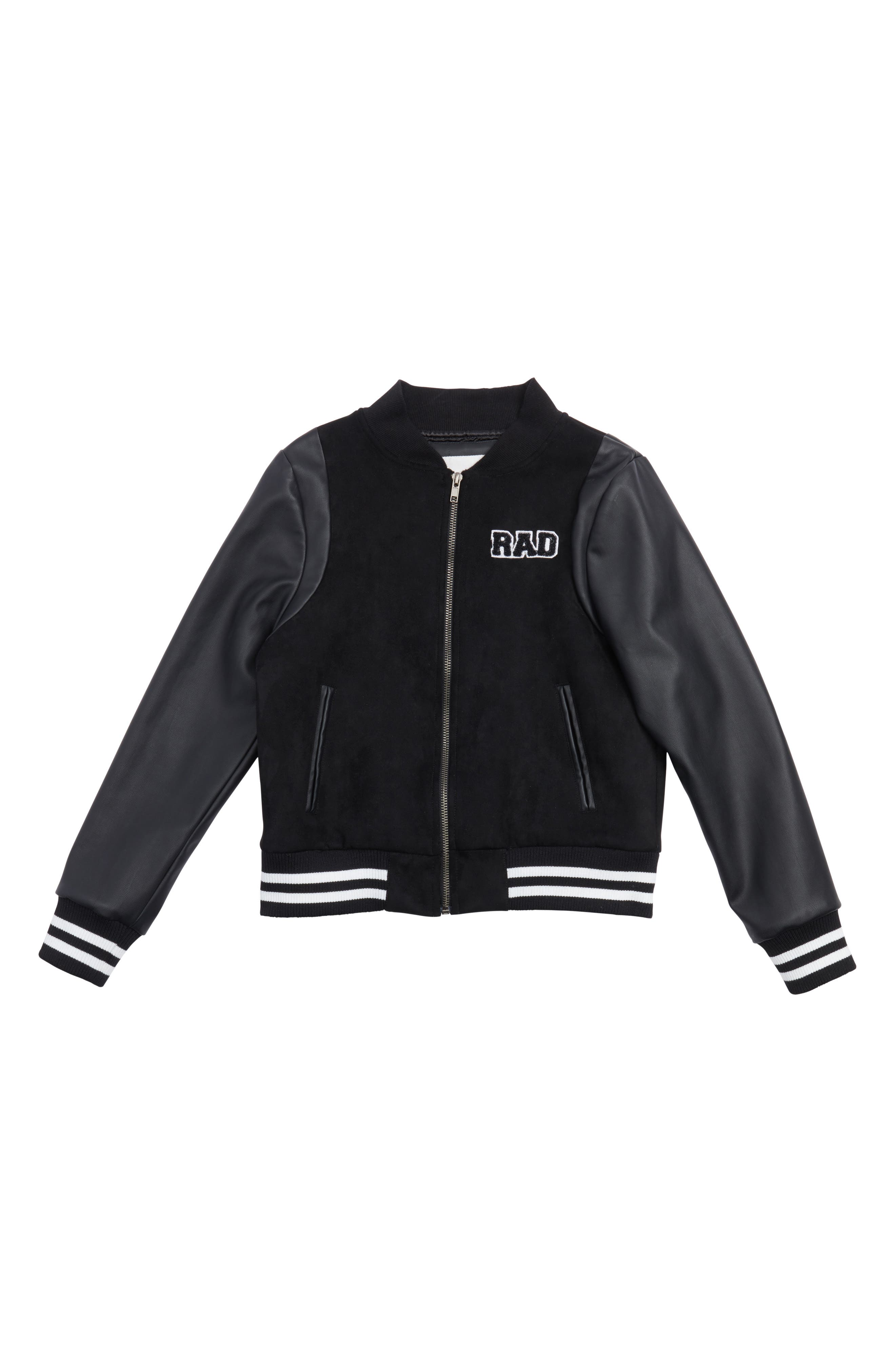 Maddie Mixed Media Bomber Jacket (Big Girls)