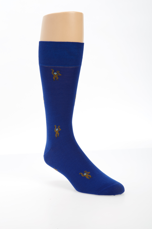 Monkey Socks,                             Main thumbnail 1, color,                             Dark Blue