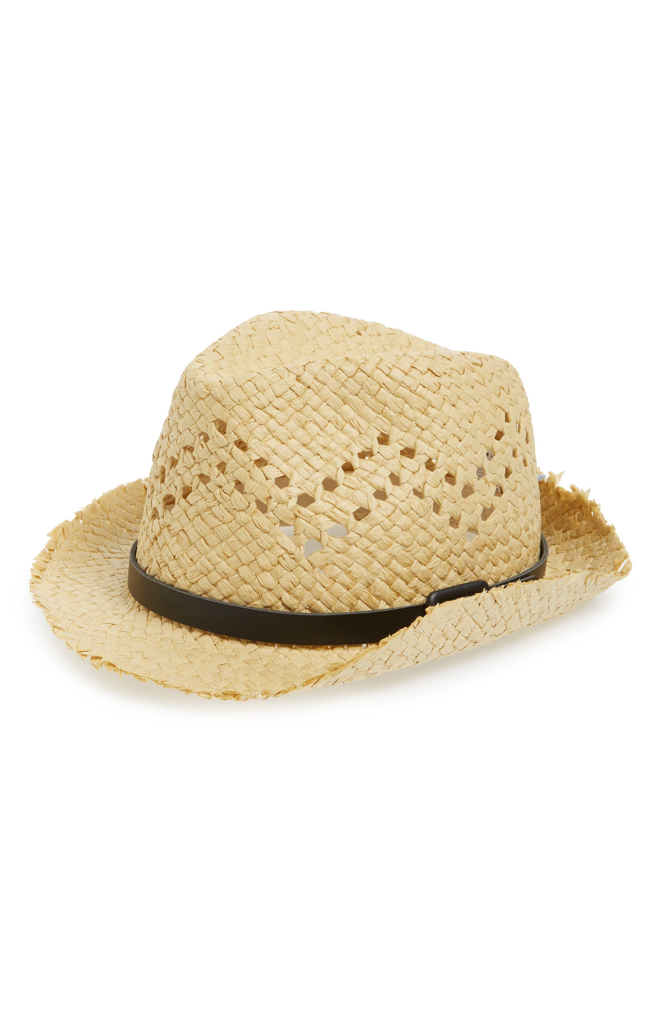 Emanuel Geraldo Buckled Band Straw Panama Hat