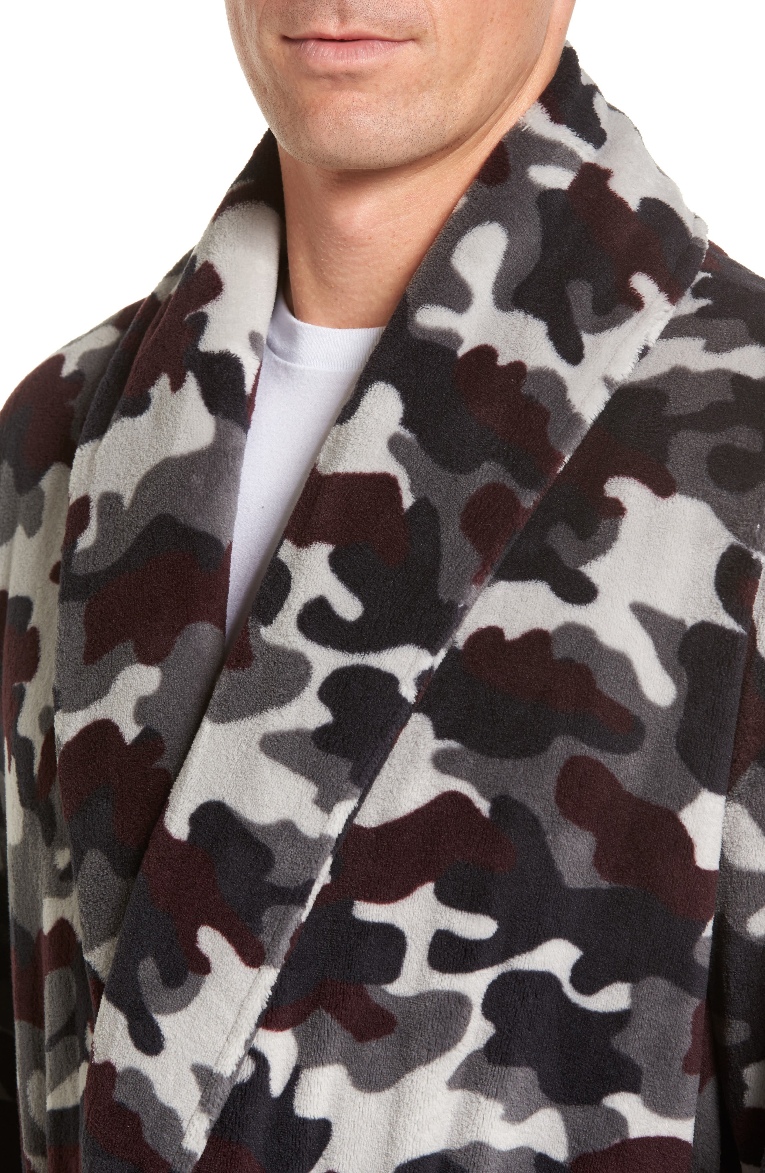 Cold Conquest Robe,                             Alternate thumbnail 4, color,                             Charcoal Camo