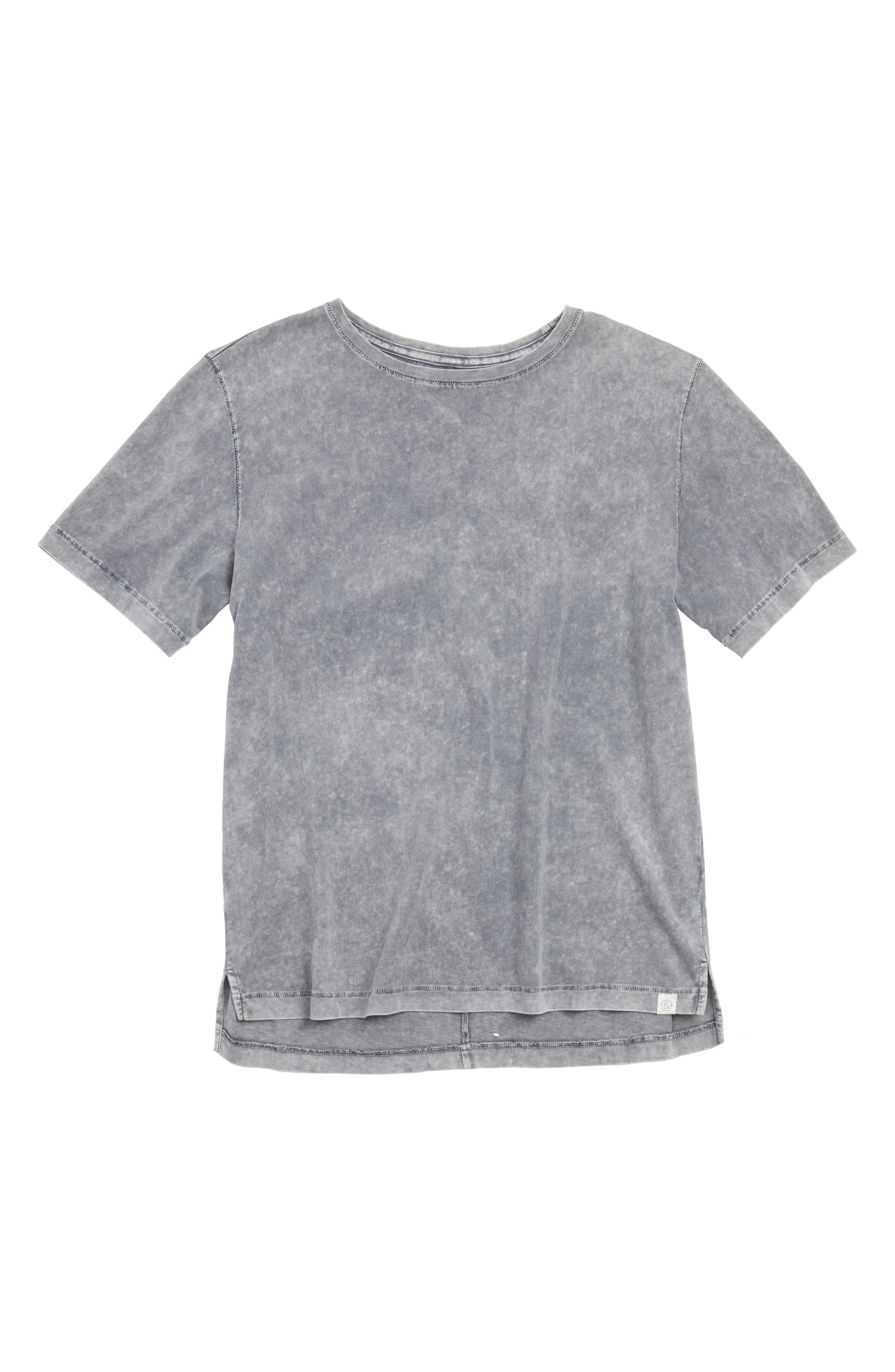 Main Image - Treasure & Bond Polo Hem Crewneck T-Shirt (Big Boy)