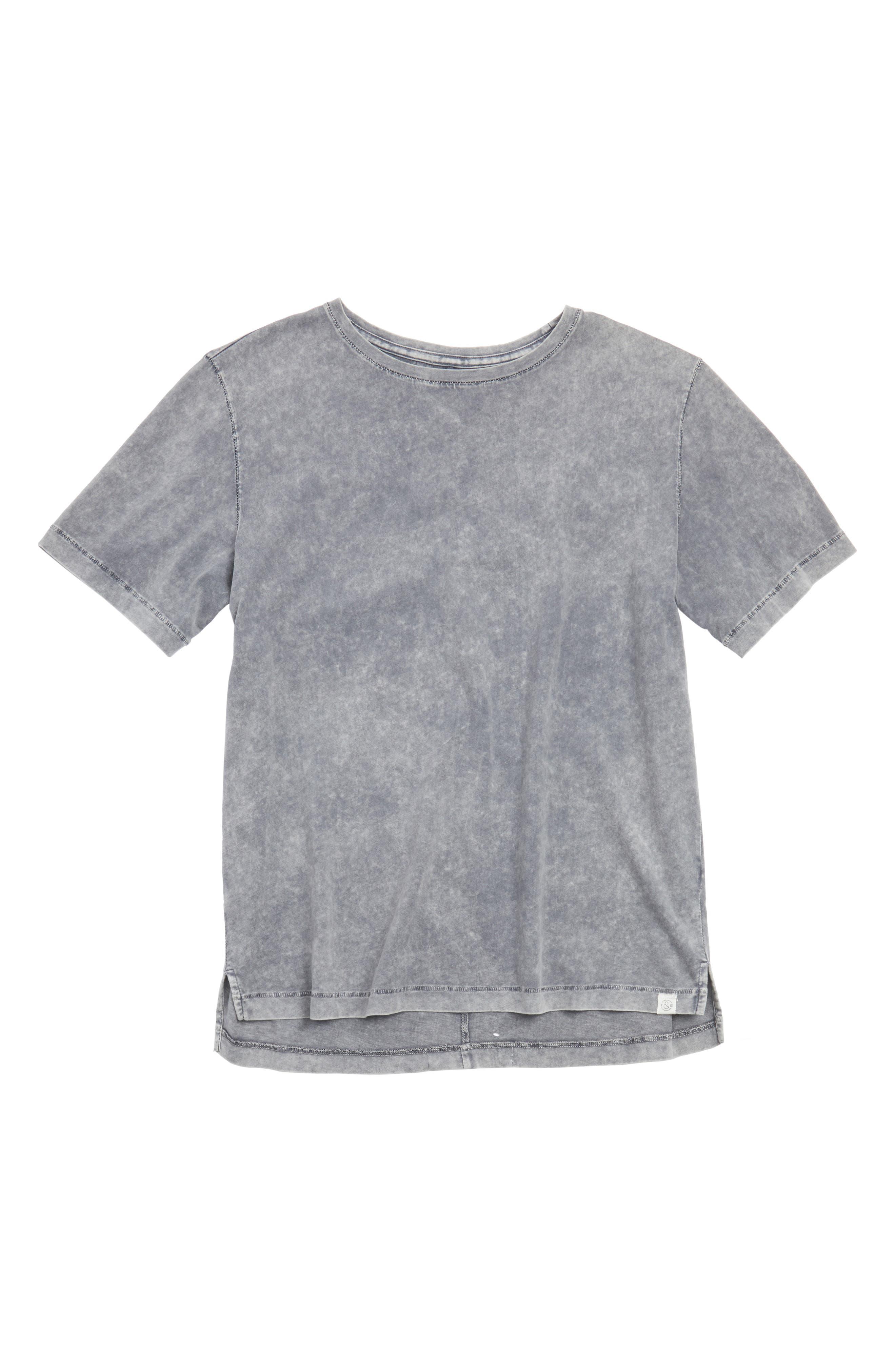 Polo Hem Crewneck T-Shirt,                         Main,                         color, Grey Griffin