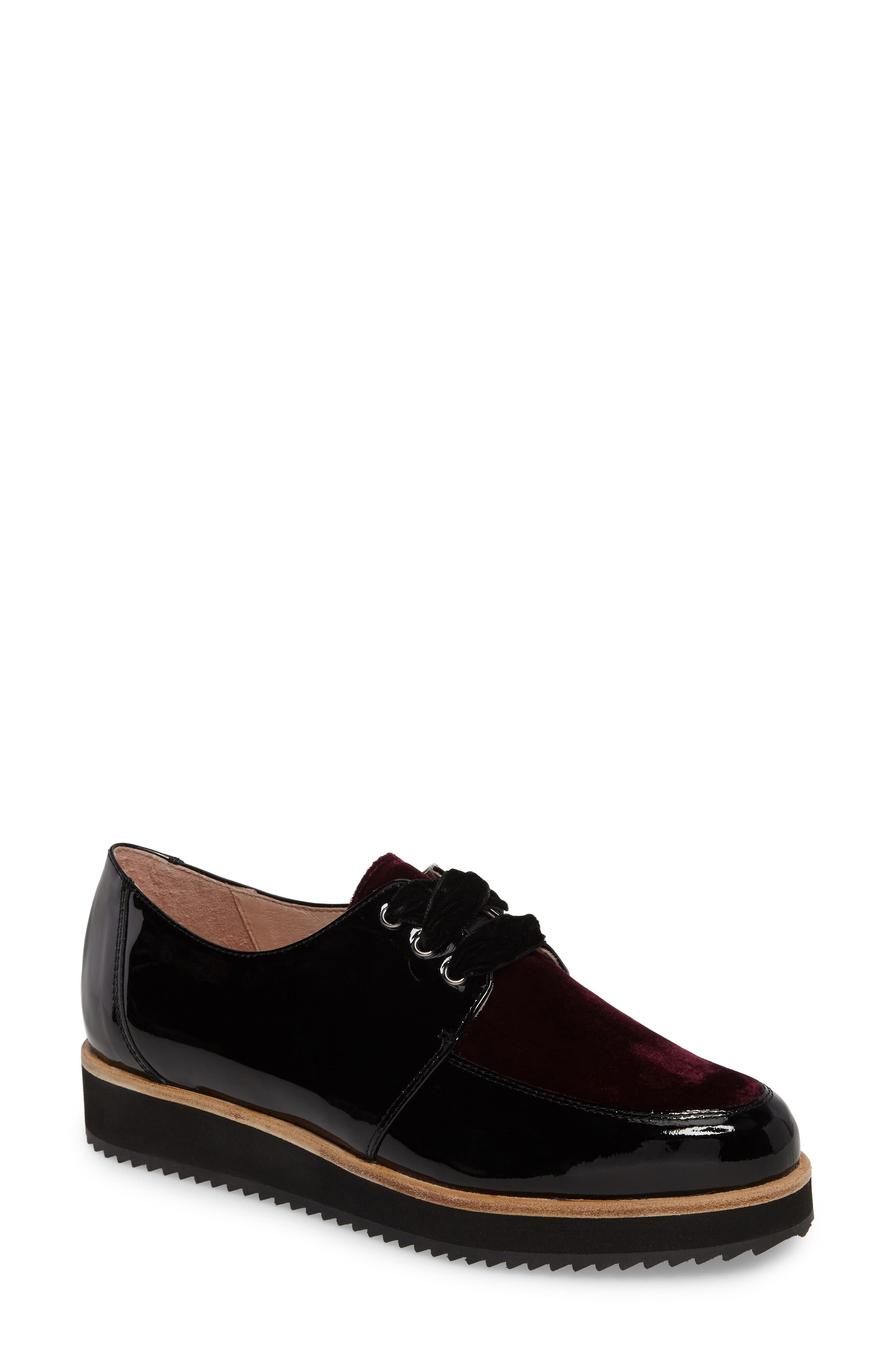 Reese Platform Oxford,                         Main,                         color, Burgundy Patent
