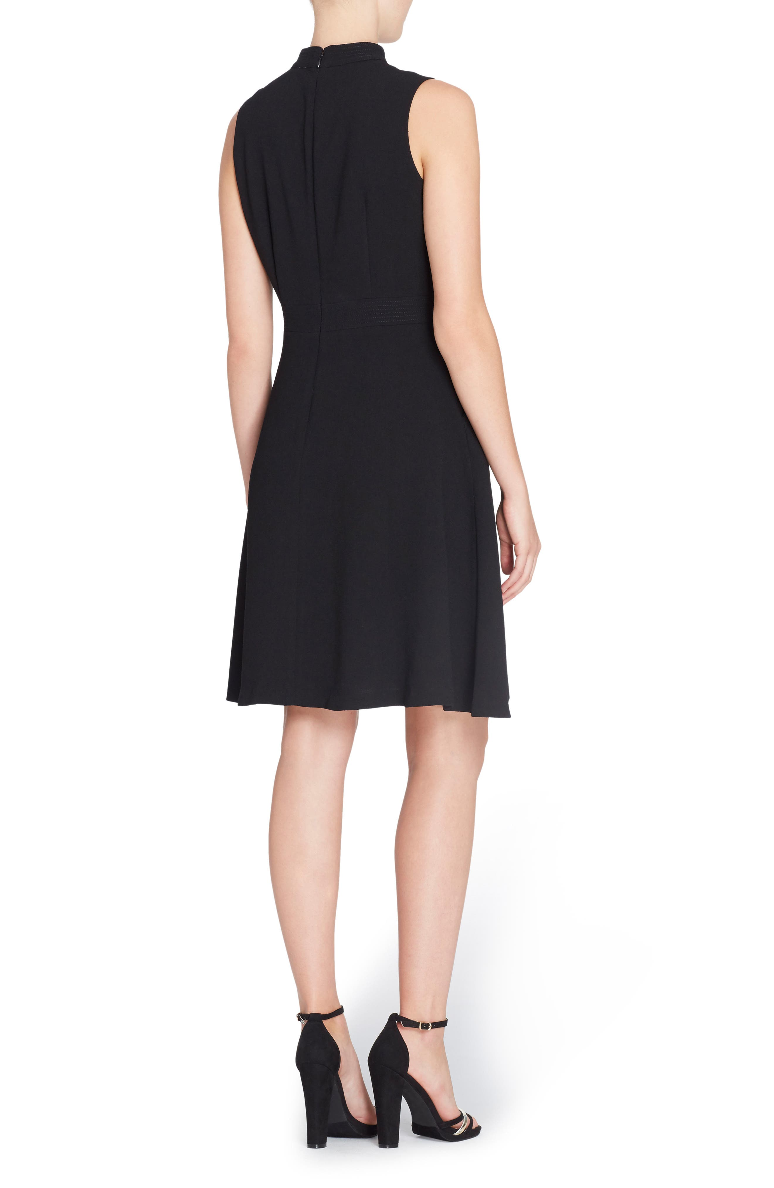 Wendy Choker Fit & Flare Dress,                             Alternate thumbnail 2, color,                             Black Beauty