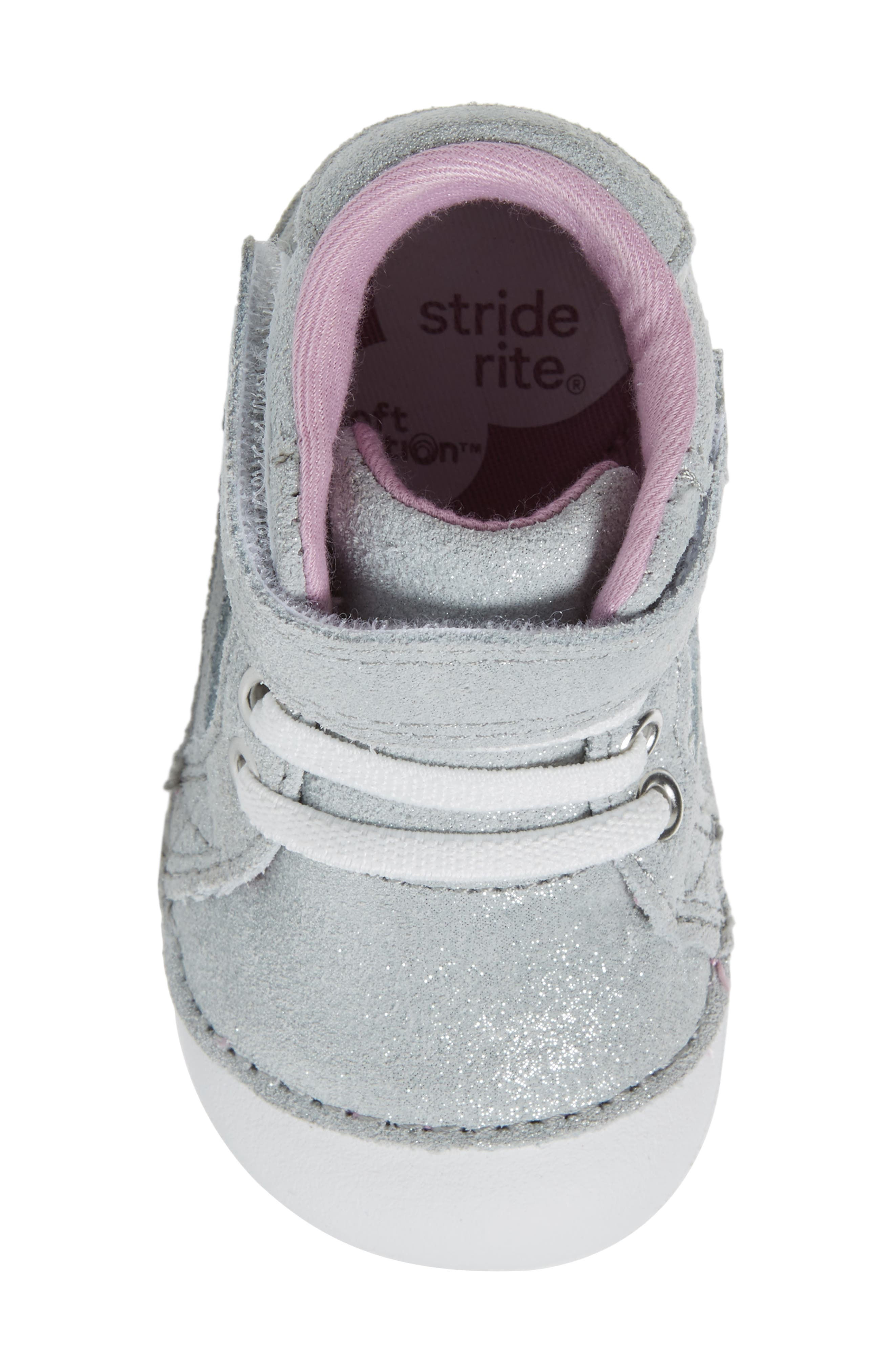 Alternate Image 5  - Stride Rite Soft Motion™ Jada High Top Sneaker (Baby & Walker)