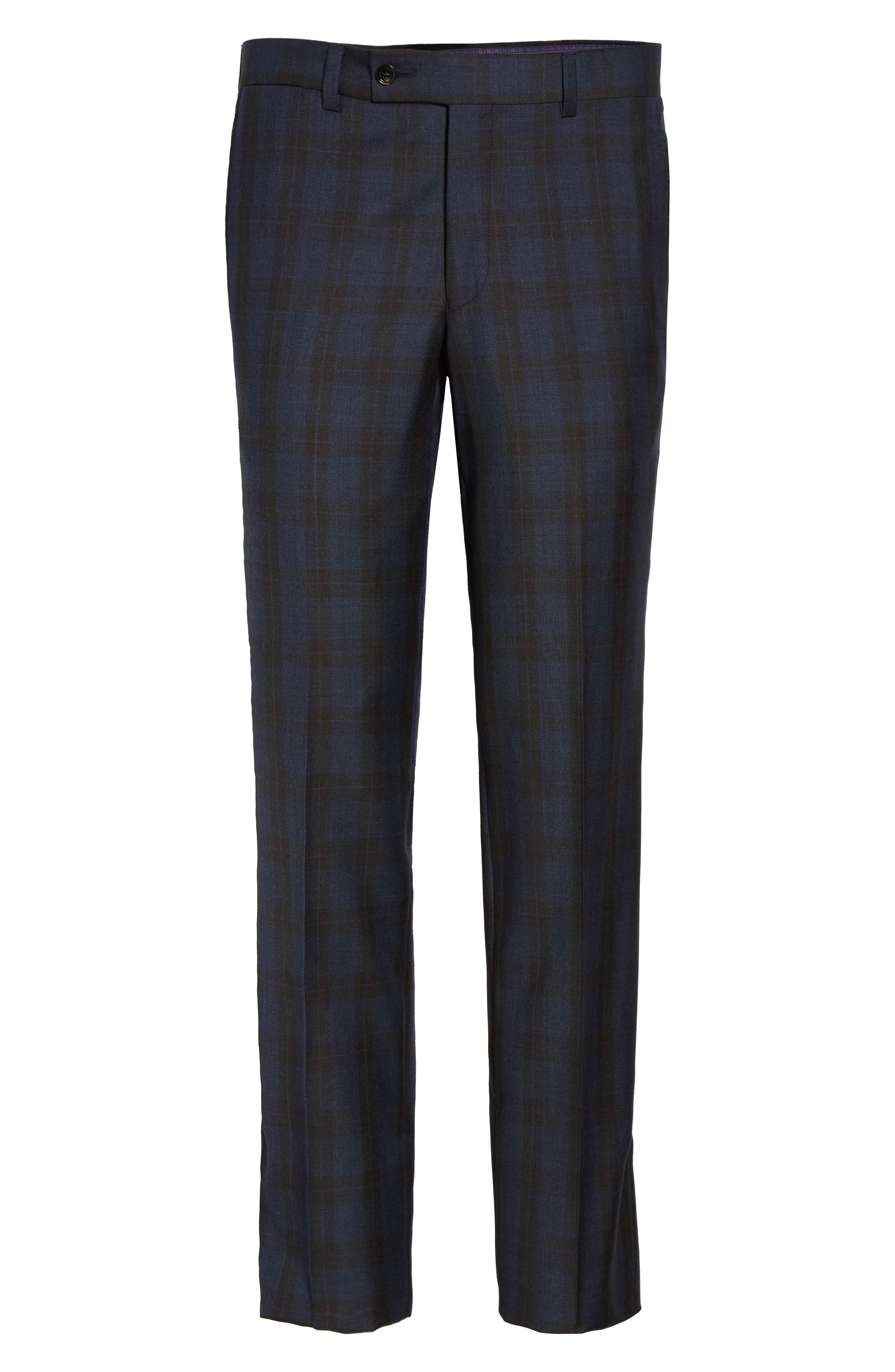 Alternate Image 6  - Ted Baker London Jefferson Flat Front Plaid Wool Trousers