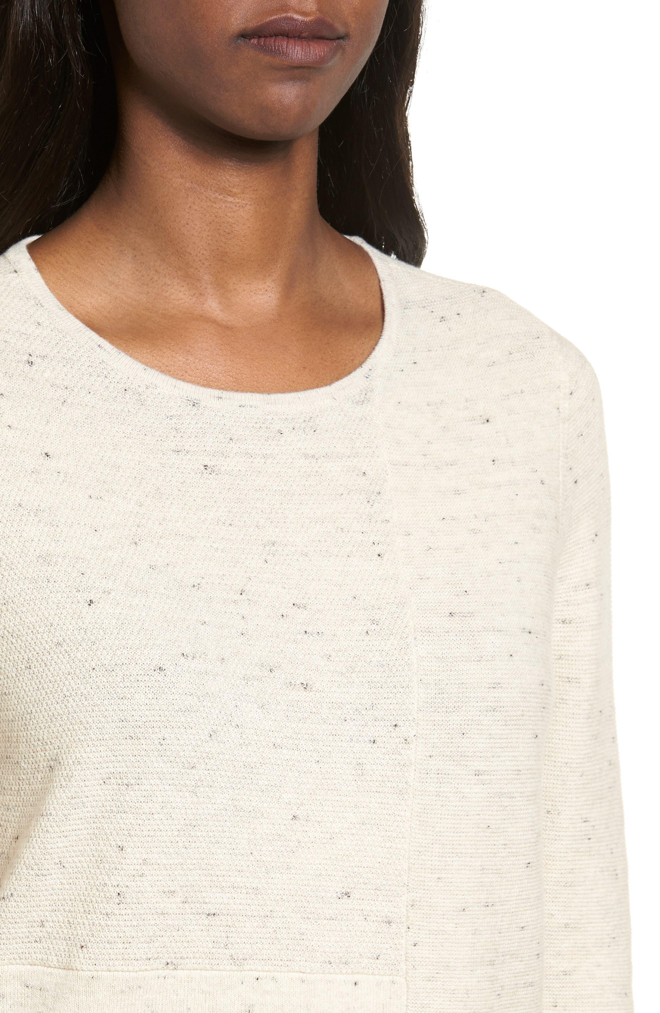 Alternate Image 4  - Eileen Fisher Mixed Stitch Sweater