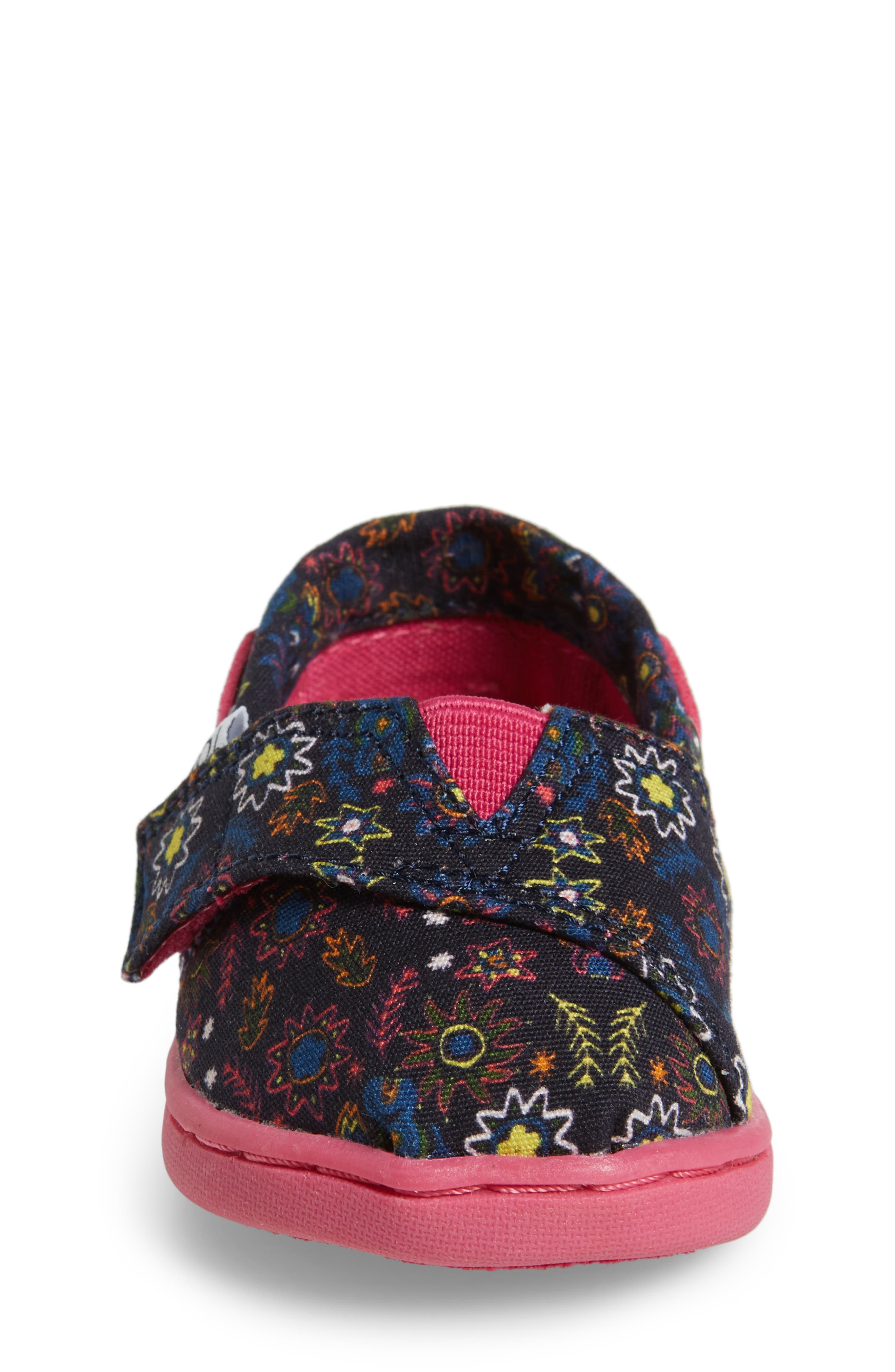 Bimini Print Slip-On,                             Alternate thumbnail 4, color,                             Navy Multi Canvas