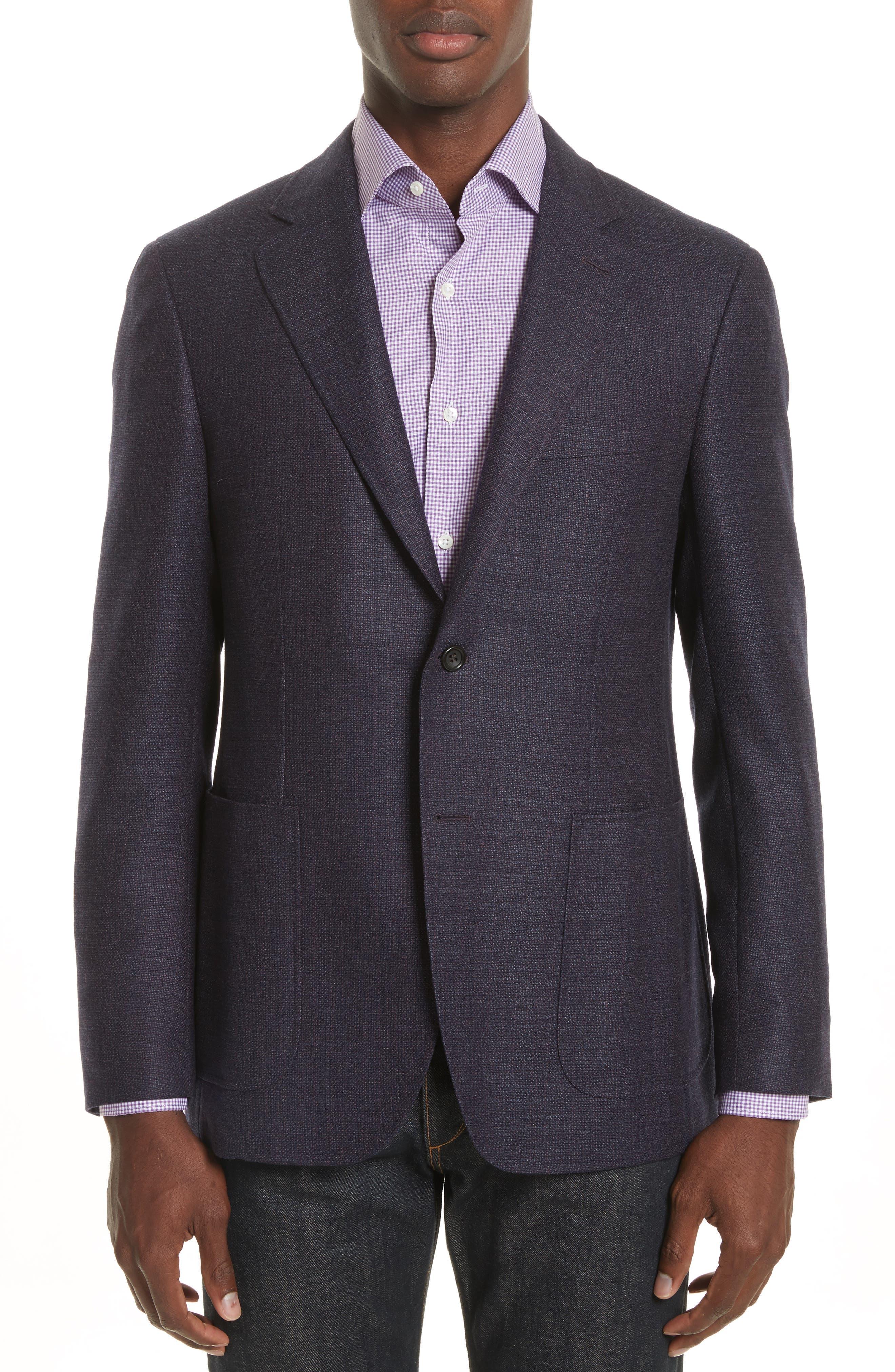 Kei Coat Classic Fit Wool Blazer,                         Main,                         color, Red