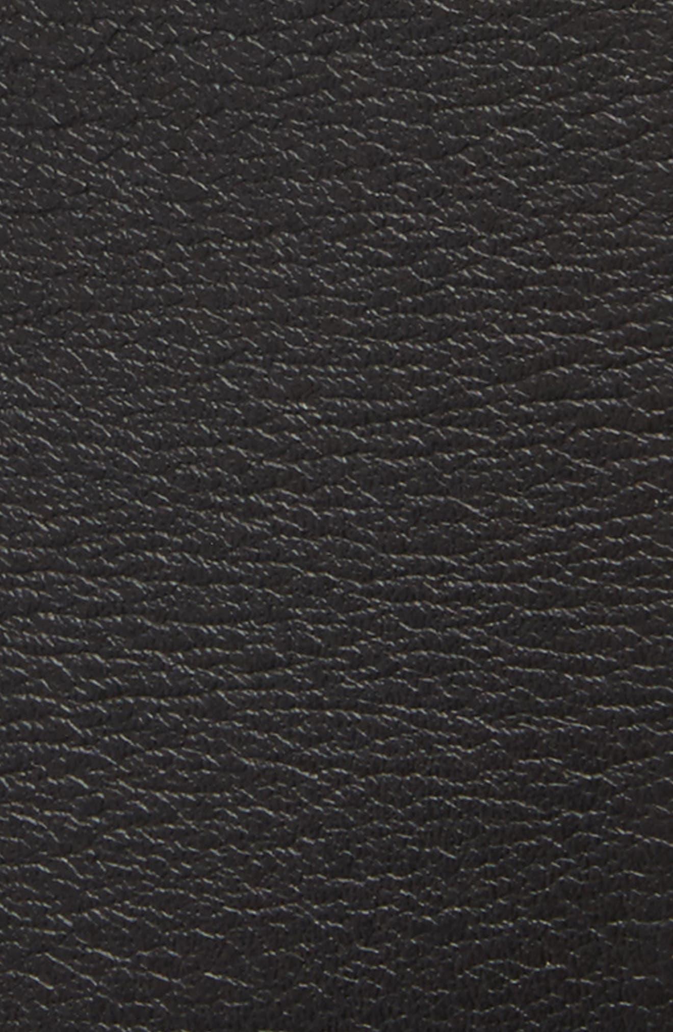 Cintura Donna Leather Belt,                             Alternate thumbnail 2, color,                             Black