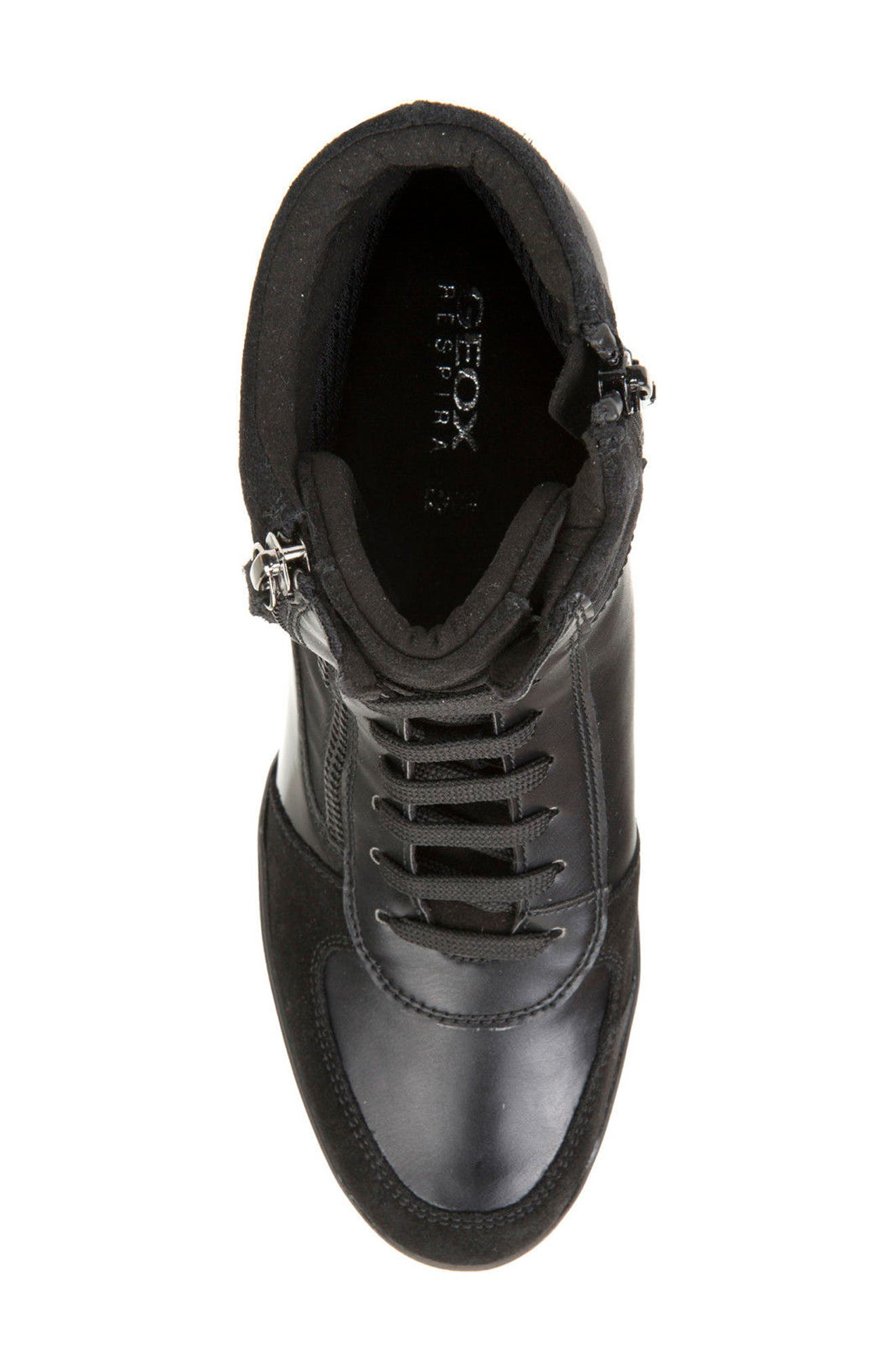 Alternate Image 5  - Geox Eleni Lace-Up Wedge Bootie (Women)