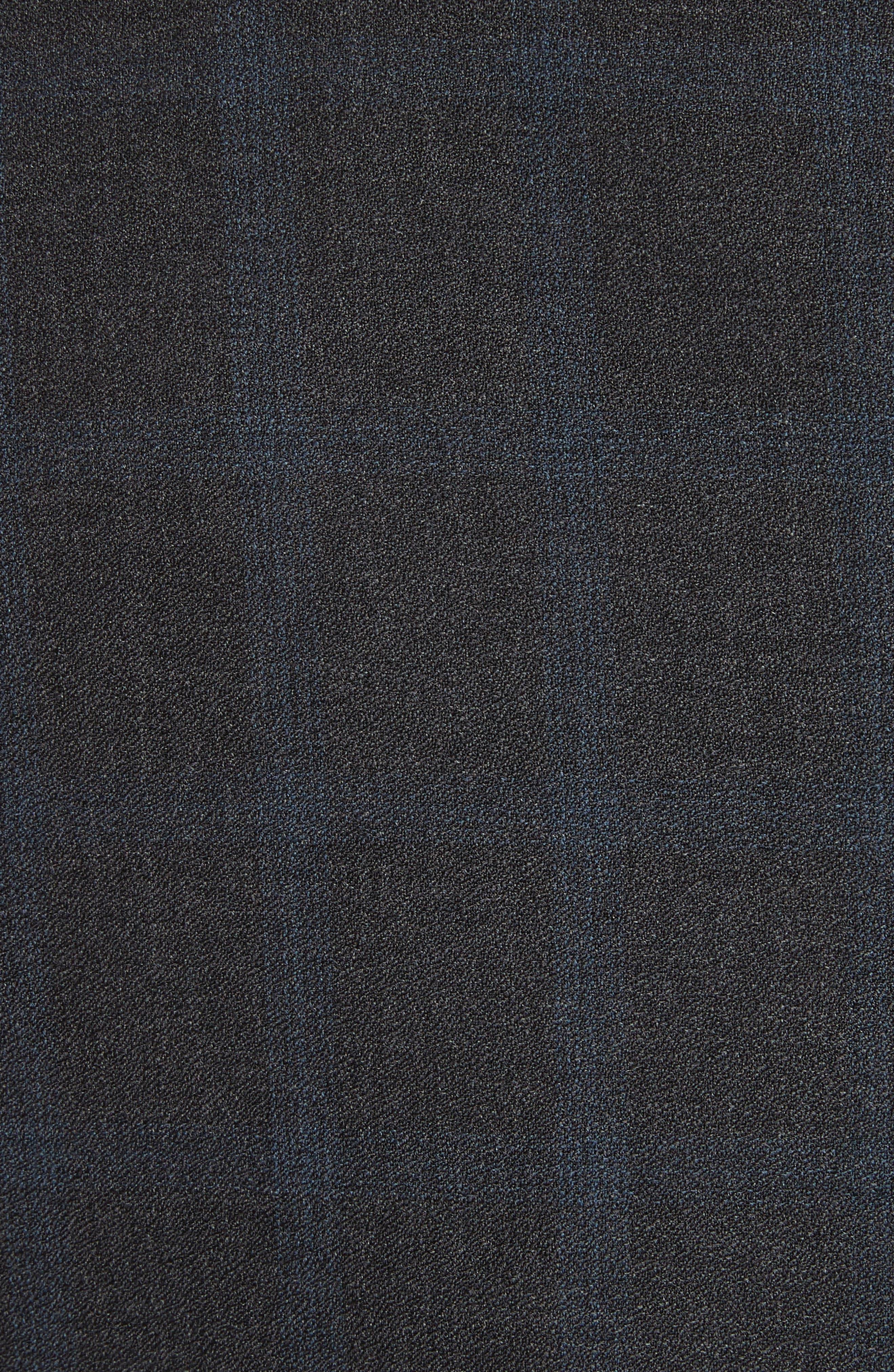 G-Line Trim Fit Plaid Wool Suit,                             Alternate thumbnail 7, color,                             Black