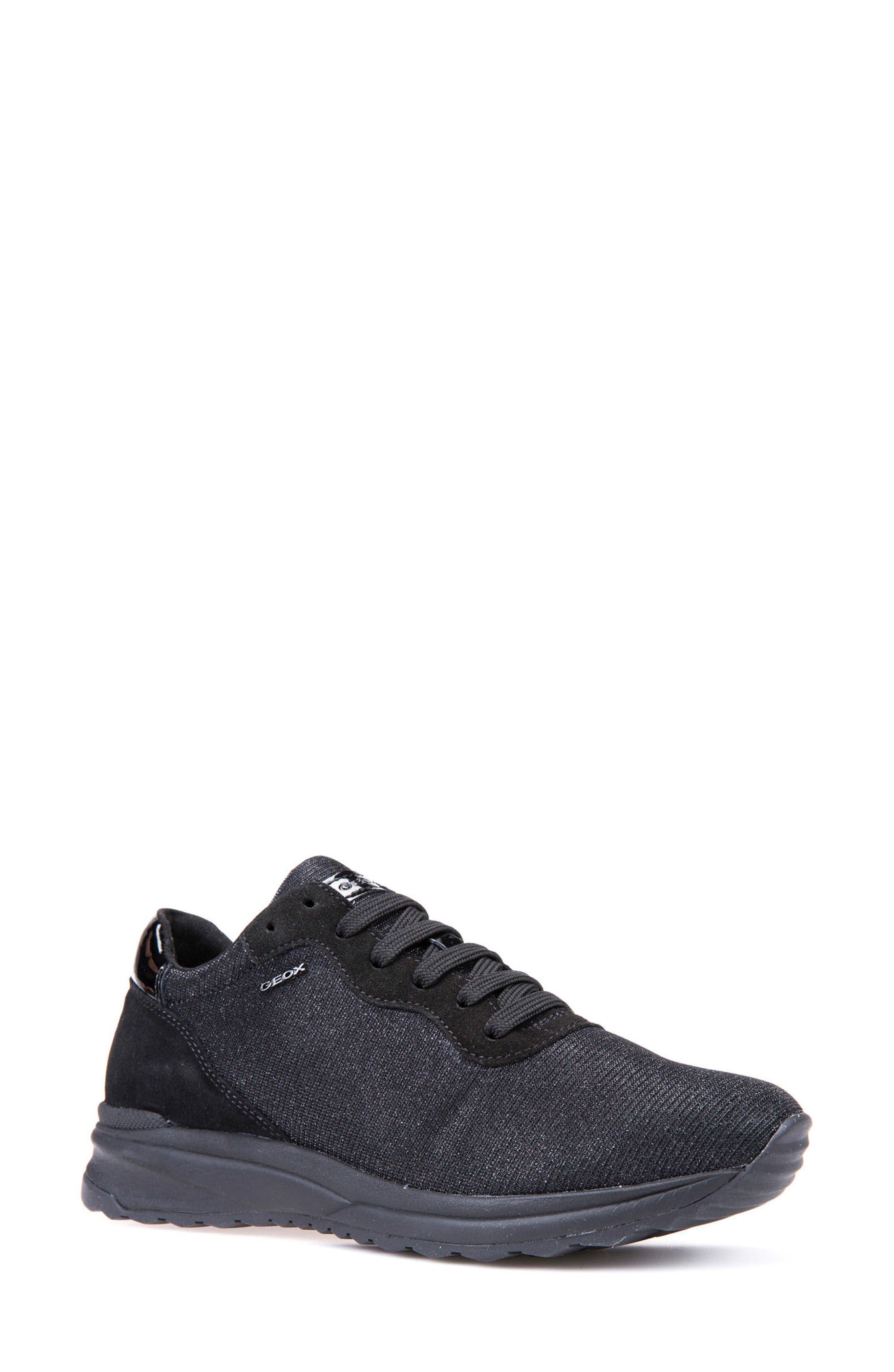 Airell Sneaker,                             Main thumbnail 1, color,                             Black Fabric