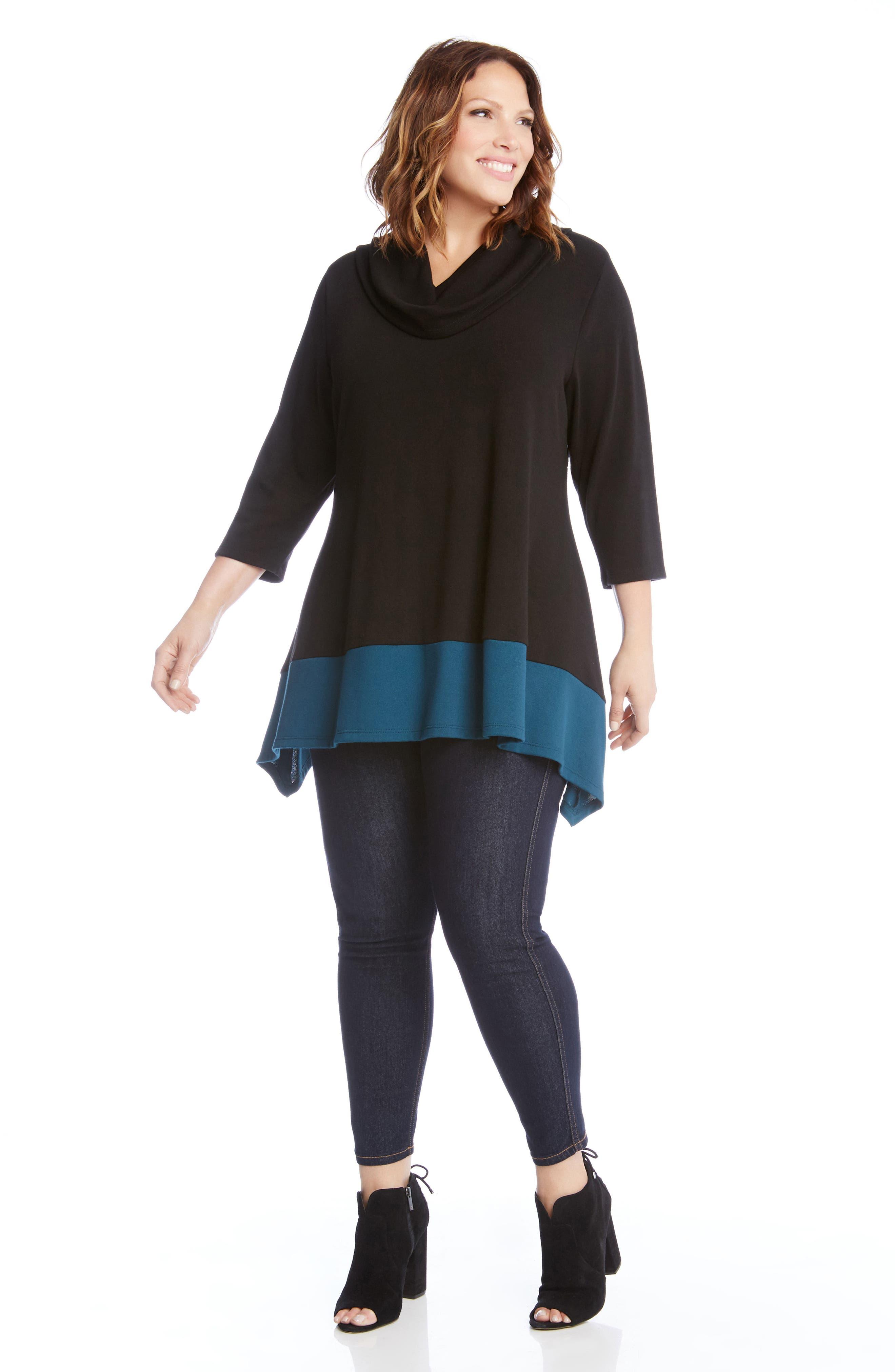 Alternate Image 3  - Karen Kane Colorblock Hem Sweater (Plus Size)