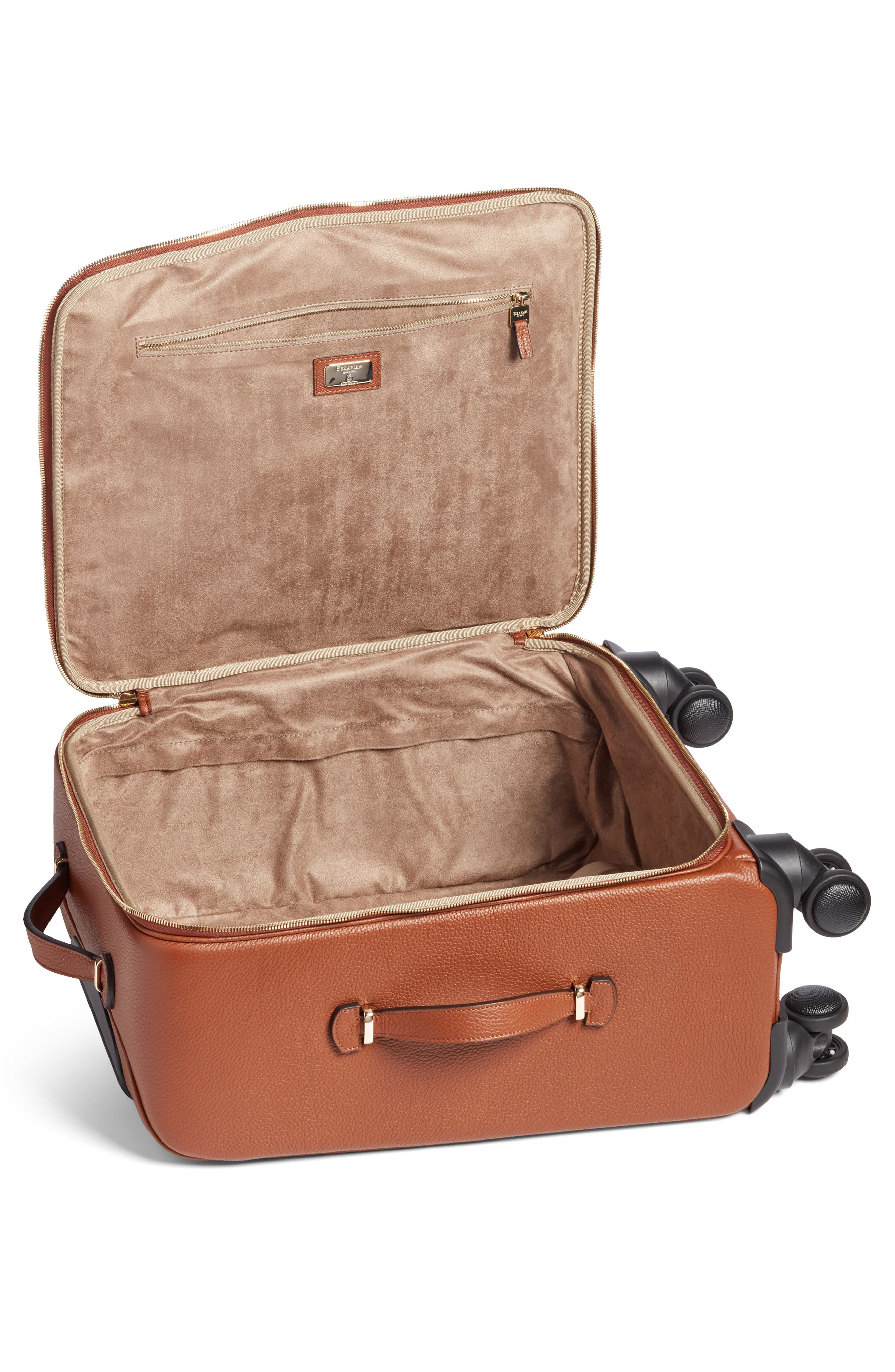 Trolley Spinner Wheeled Carry-On Suitcase,                             Alternate thumbnail 3, color,                             Sienna