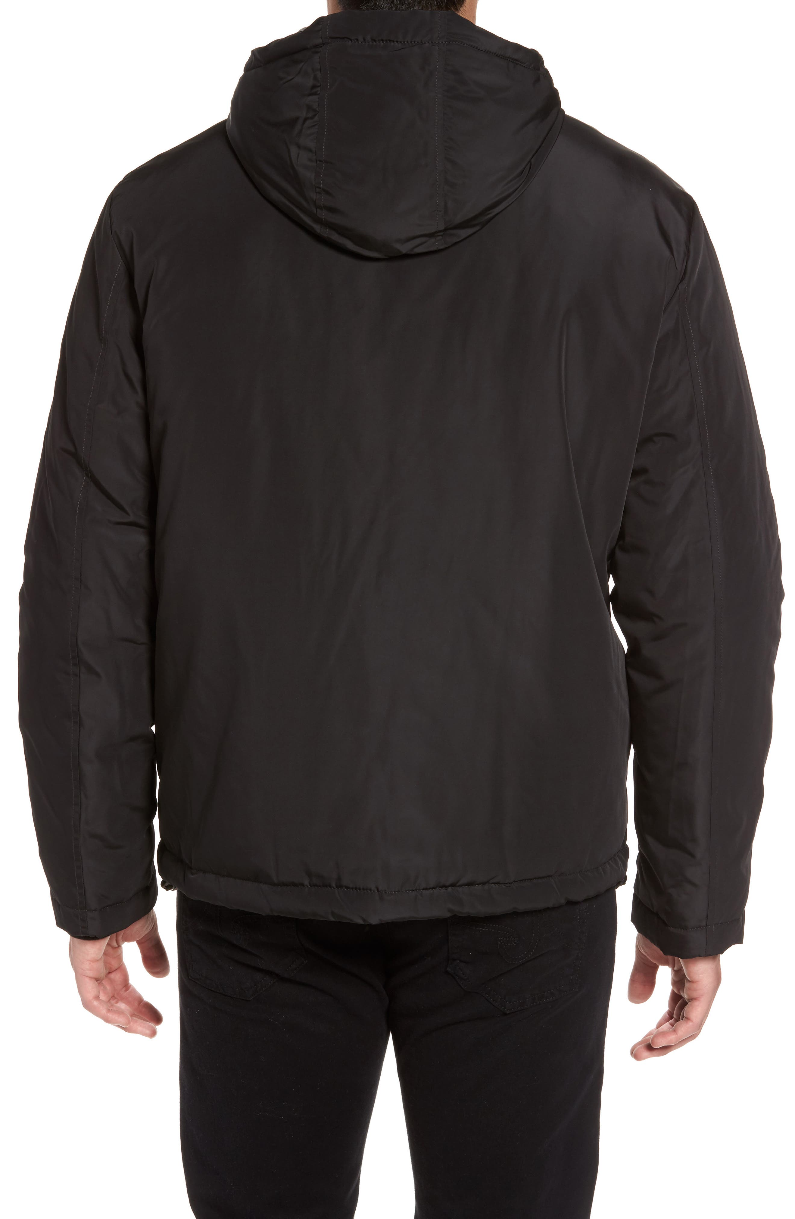 Water Resistant Insulated Jacket,                             Alternate thumbnail 2, color,                             Black