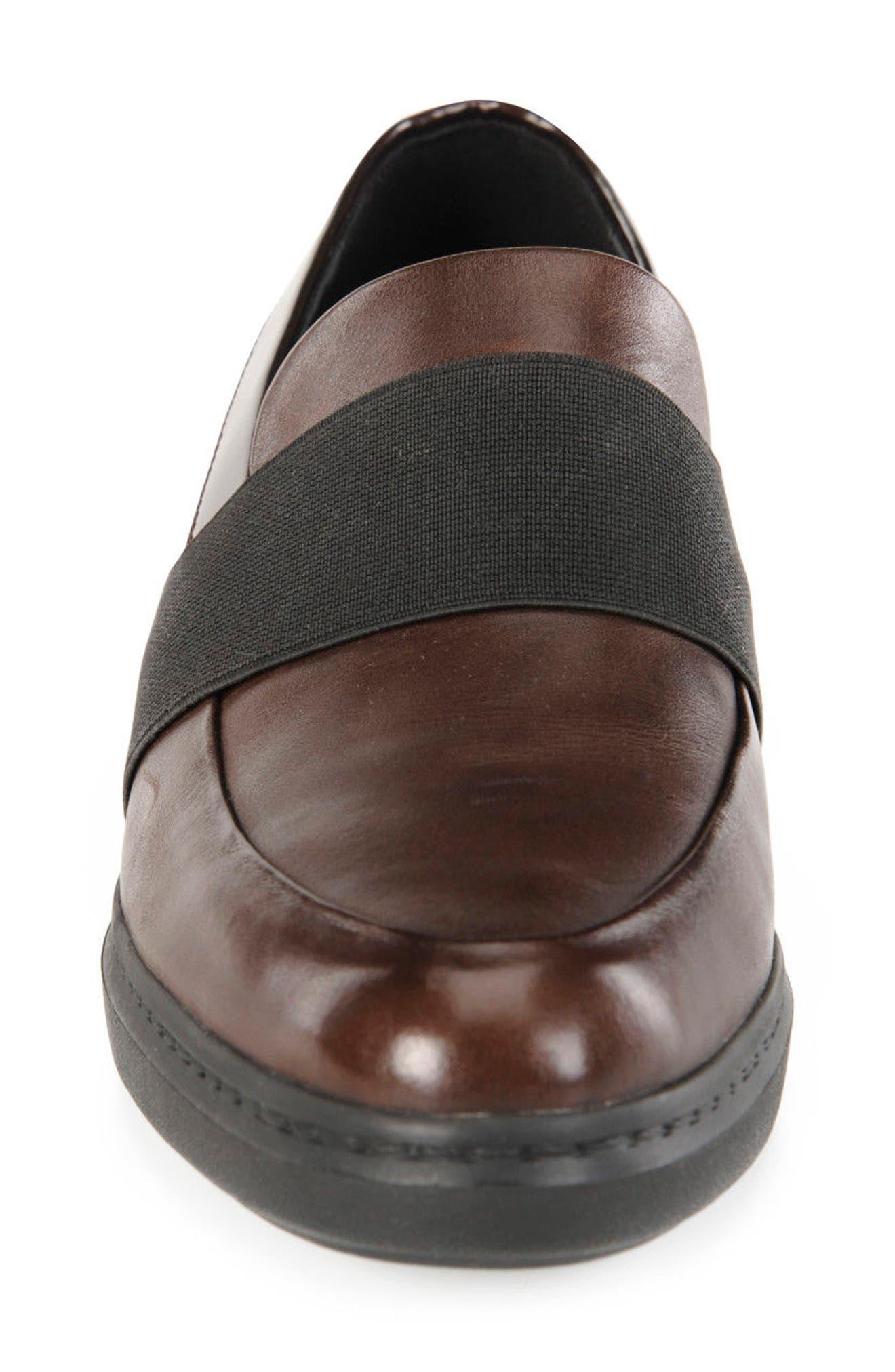 Jerrica Loafer,                             Alternate thumbnail 4, color,                             Dark Burgundy Leather