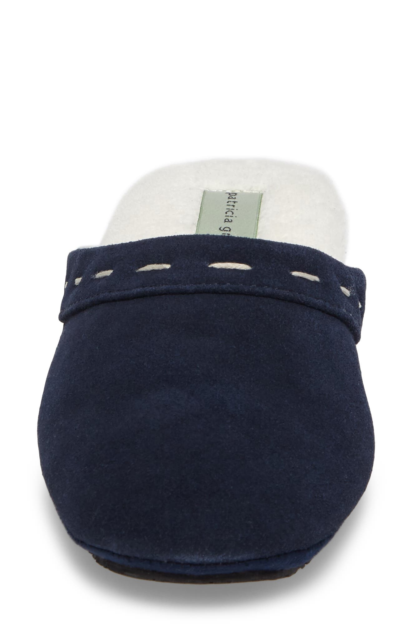 Mayfair Wedge Slipper,                             Alternate thumbnail 4, color,                             Navy Suede