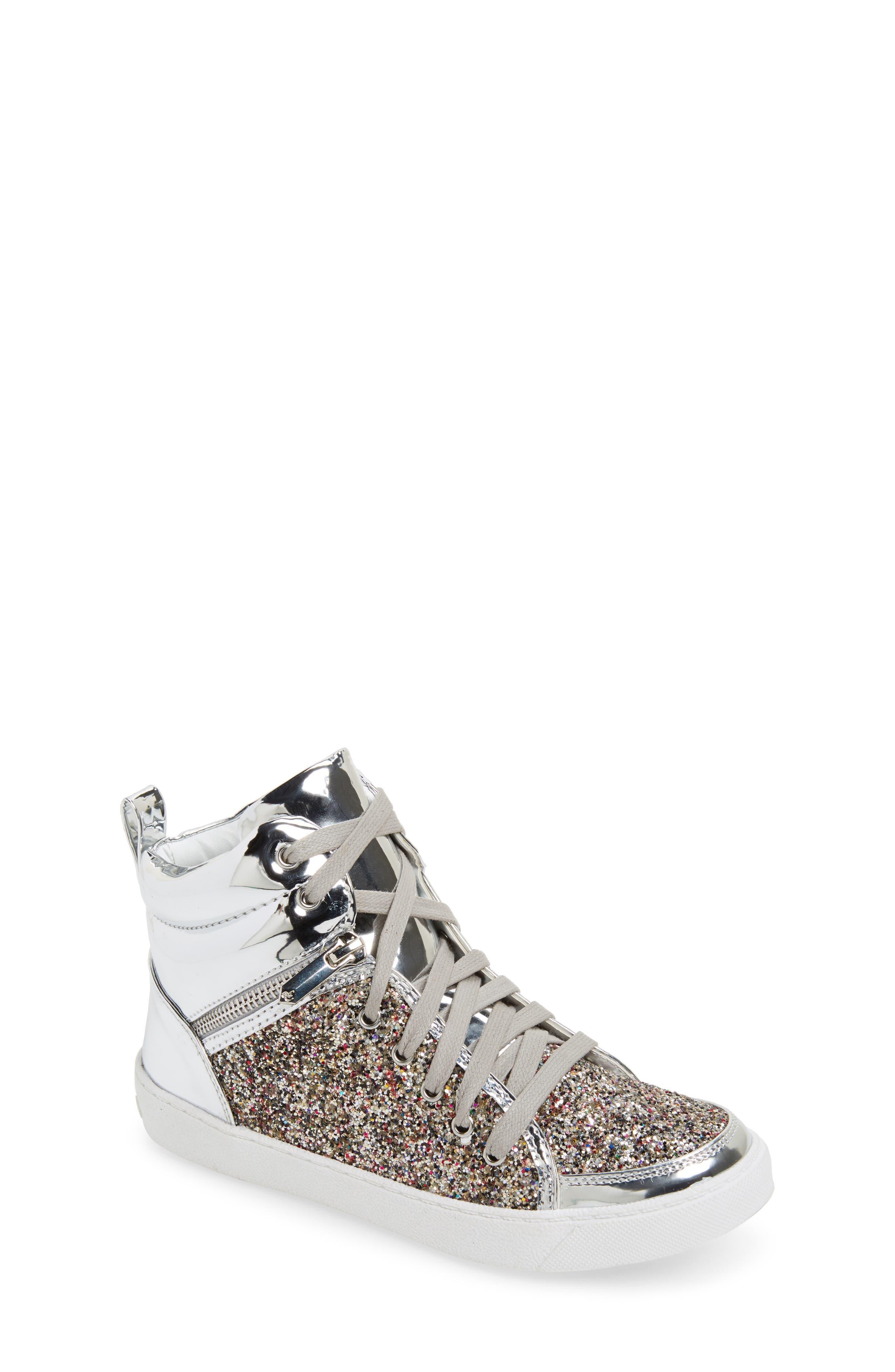 SAM EDELMAN Britt Remy Glitter High Top Sneaker