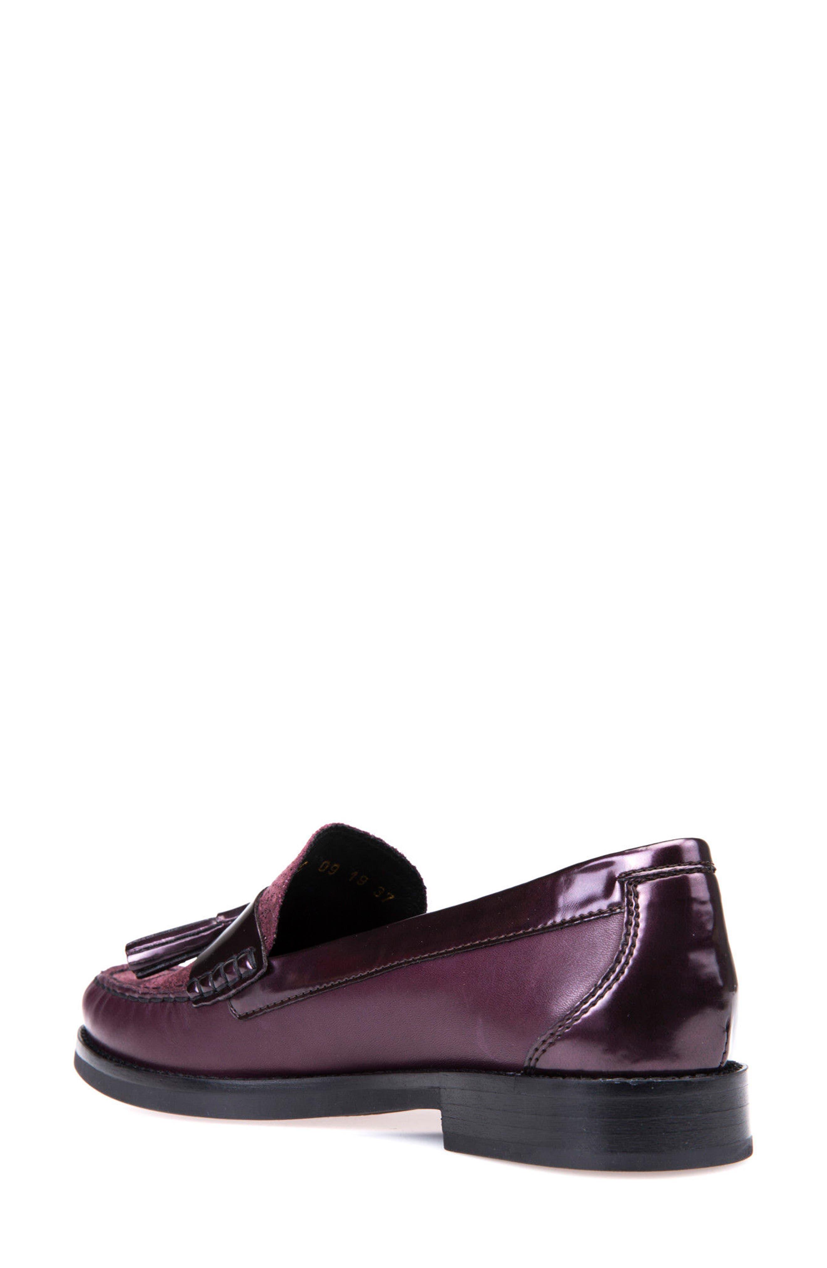 Promethea Loafer,                             Alternate thumbnail 2, color,                             Prune Leather