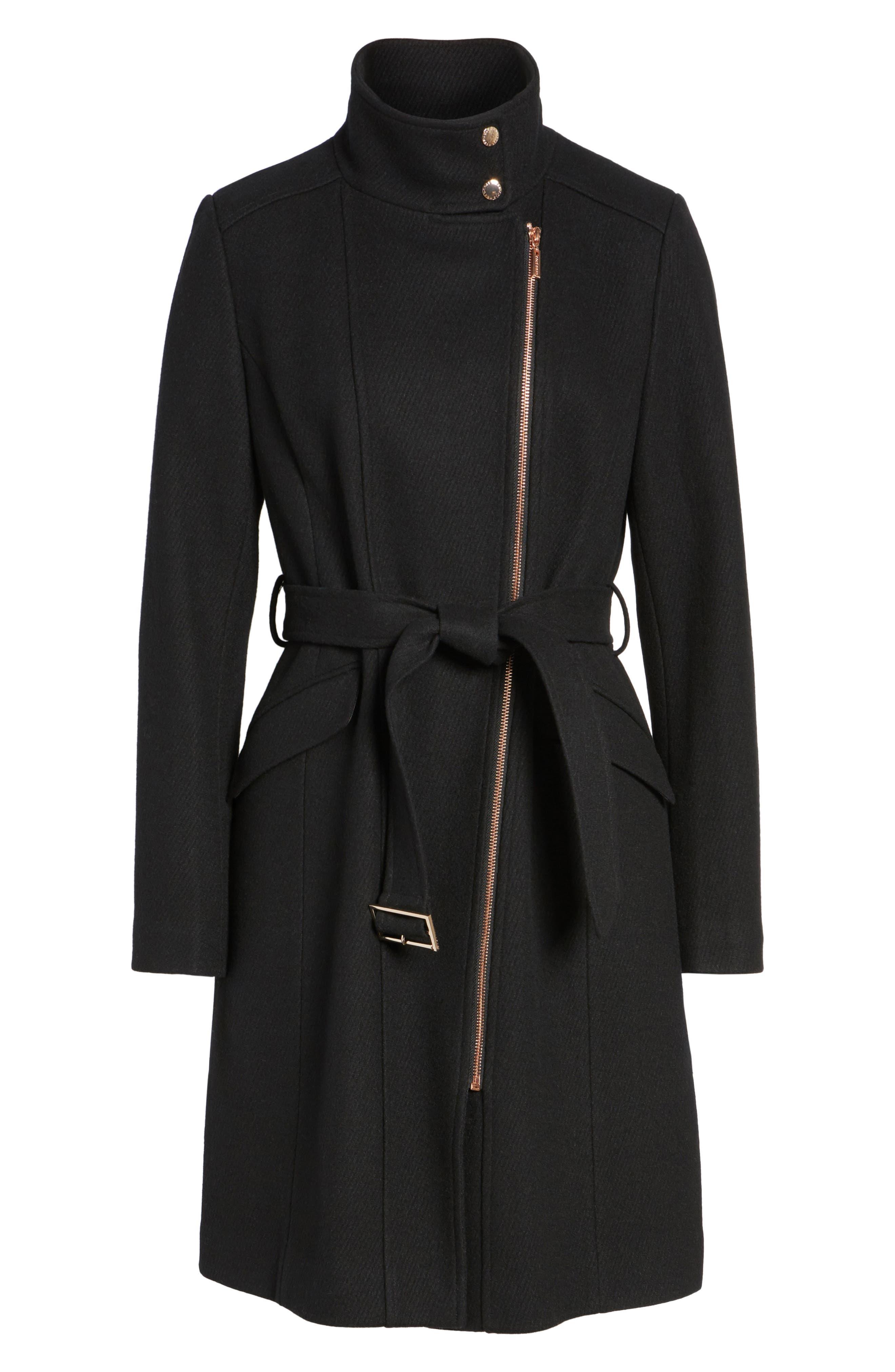 Coat,                             Alternate thumbnail 6, color,                             Black