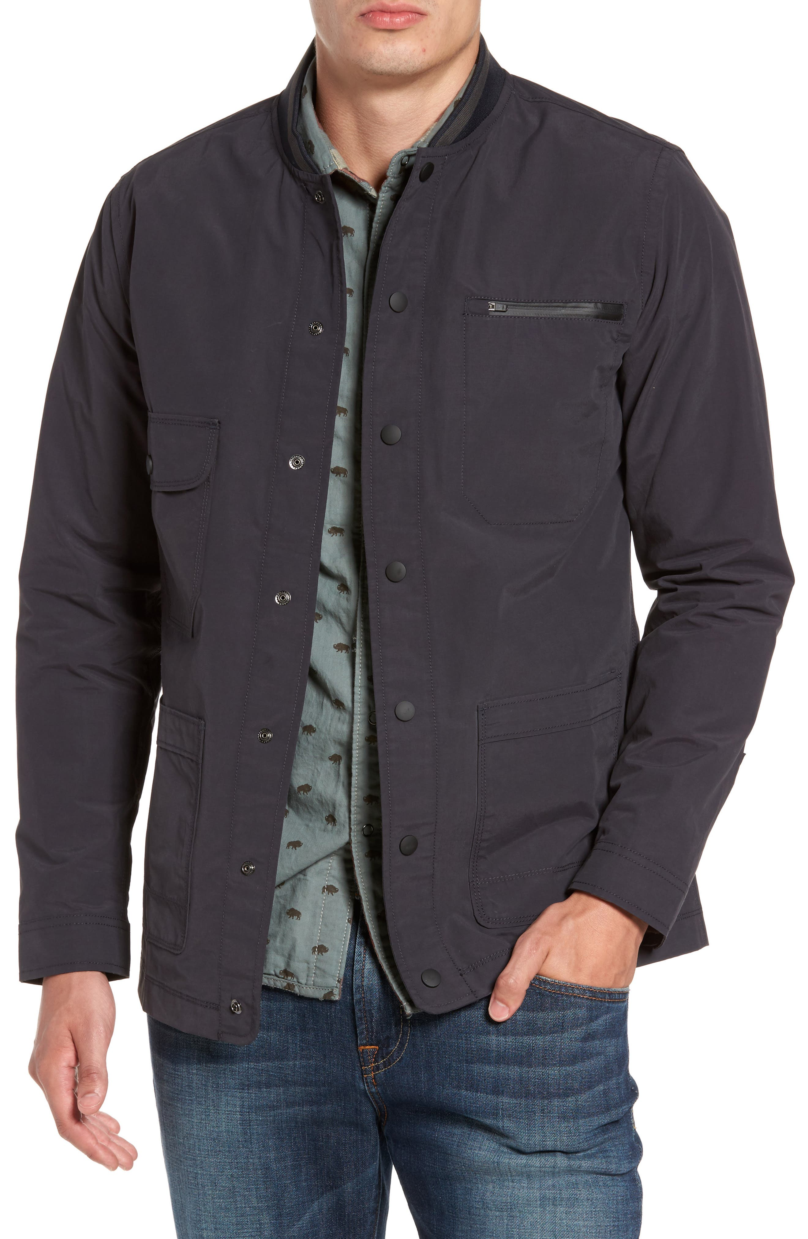 Jarvis Coated Cotton Blend Jacket,                         Main,                         color, Inkwell