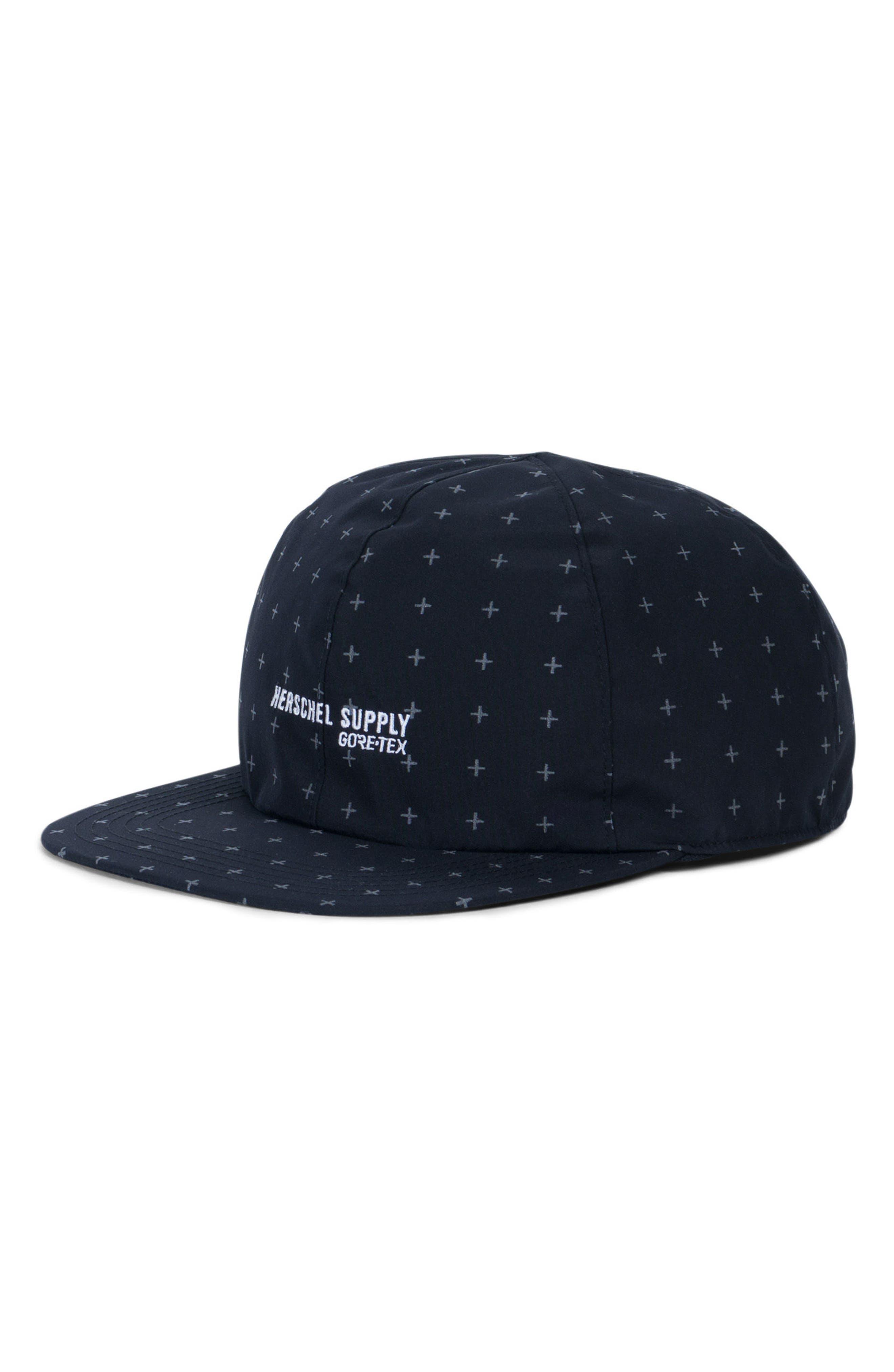 Albert Gore-Tex<sup>®</sup> Baseball Cap,                         Main,                         color, Black Gridlock