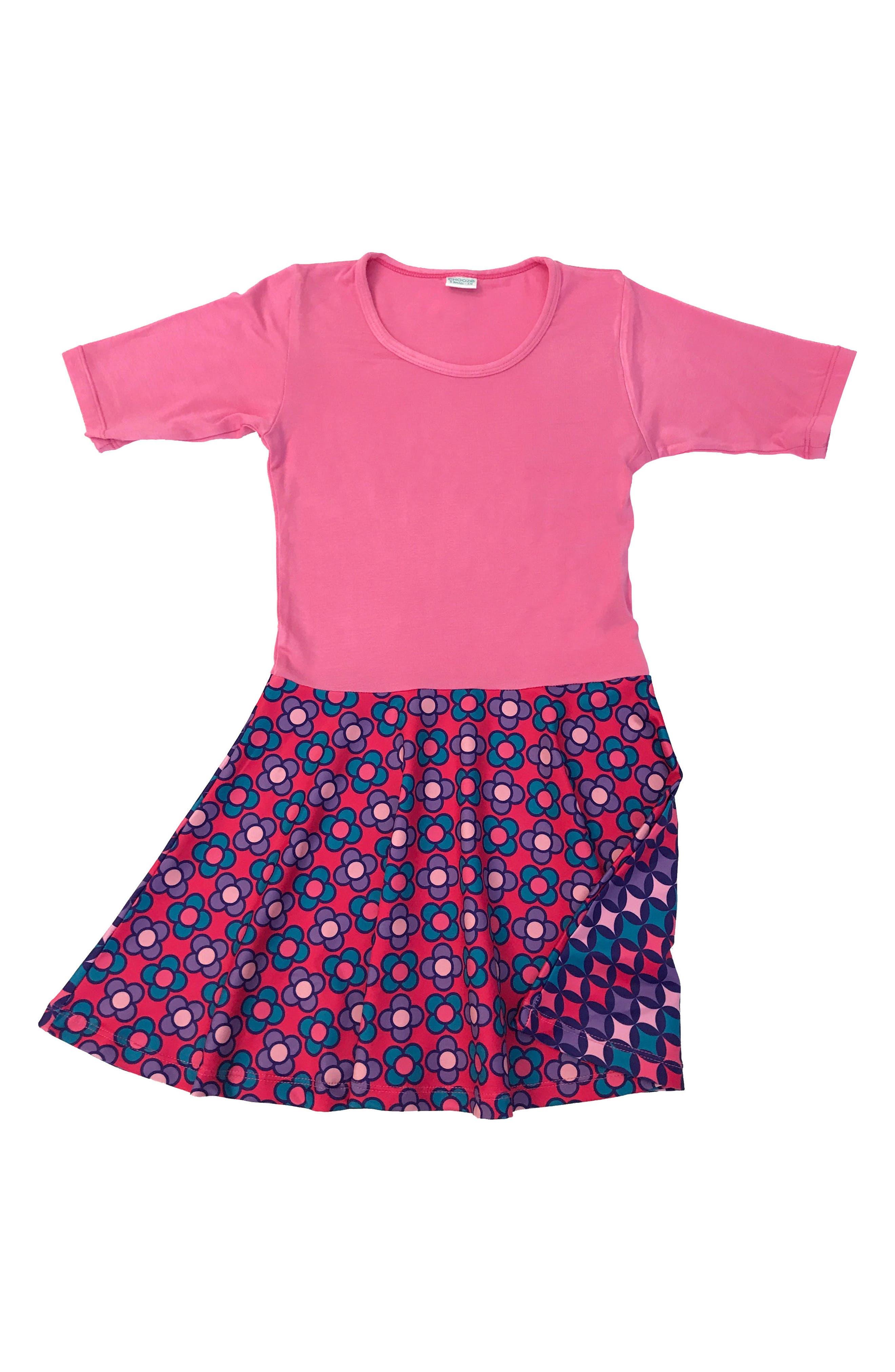 Spree Mixed Print Dress,                             Alternate thumbnail 2, color,                             Jazzy Pink