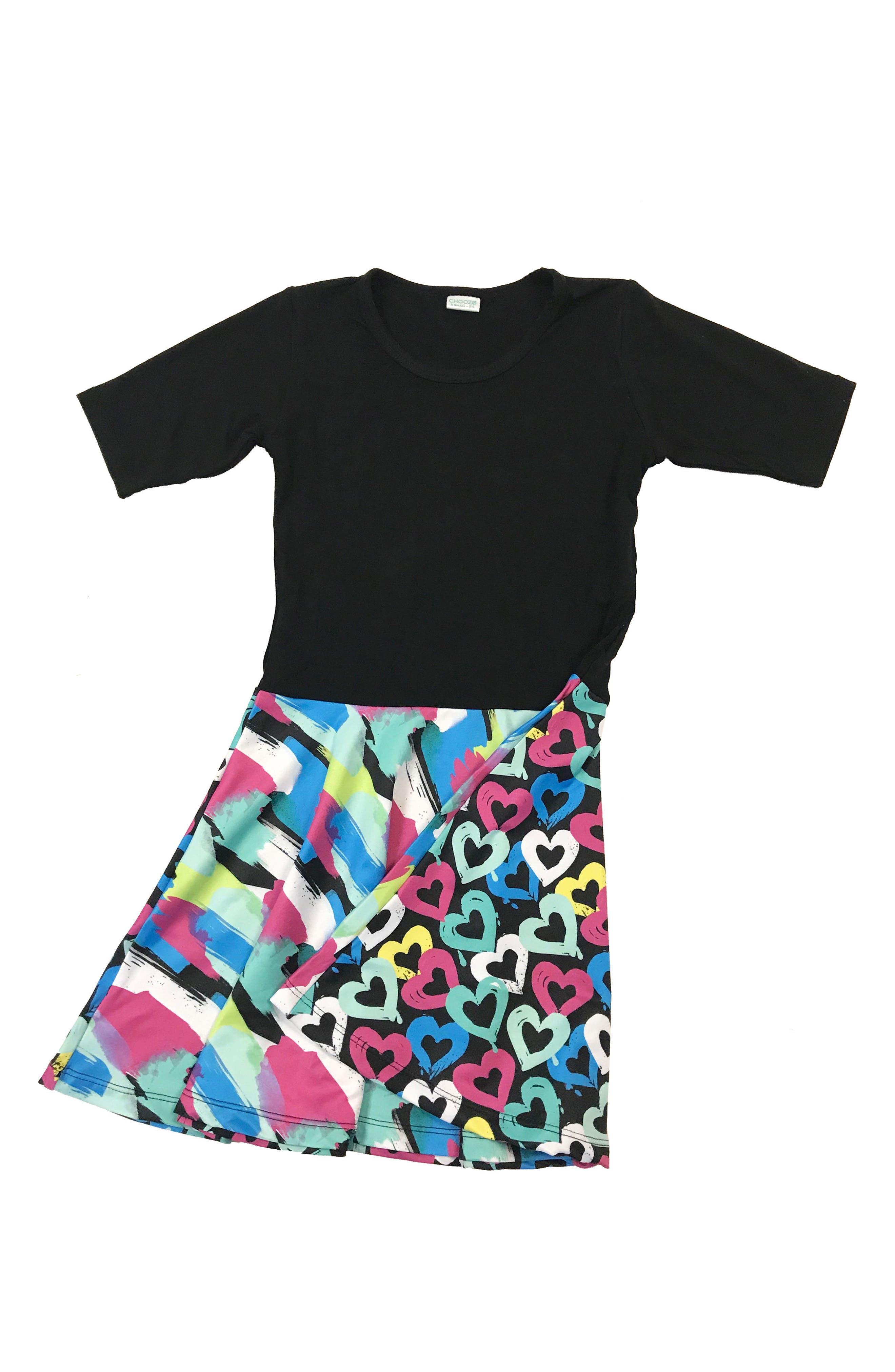 Alternate Image 3  - CHOOZE Spree Mixed Print Dress (Little Girls & Big Girls)