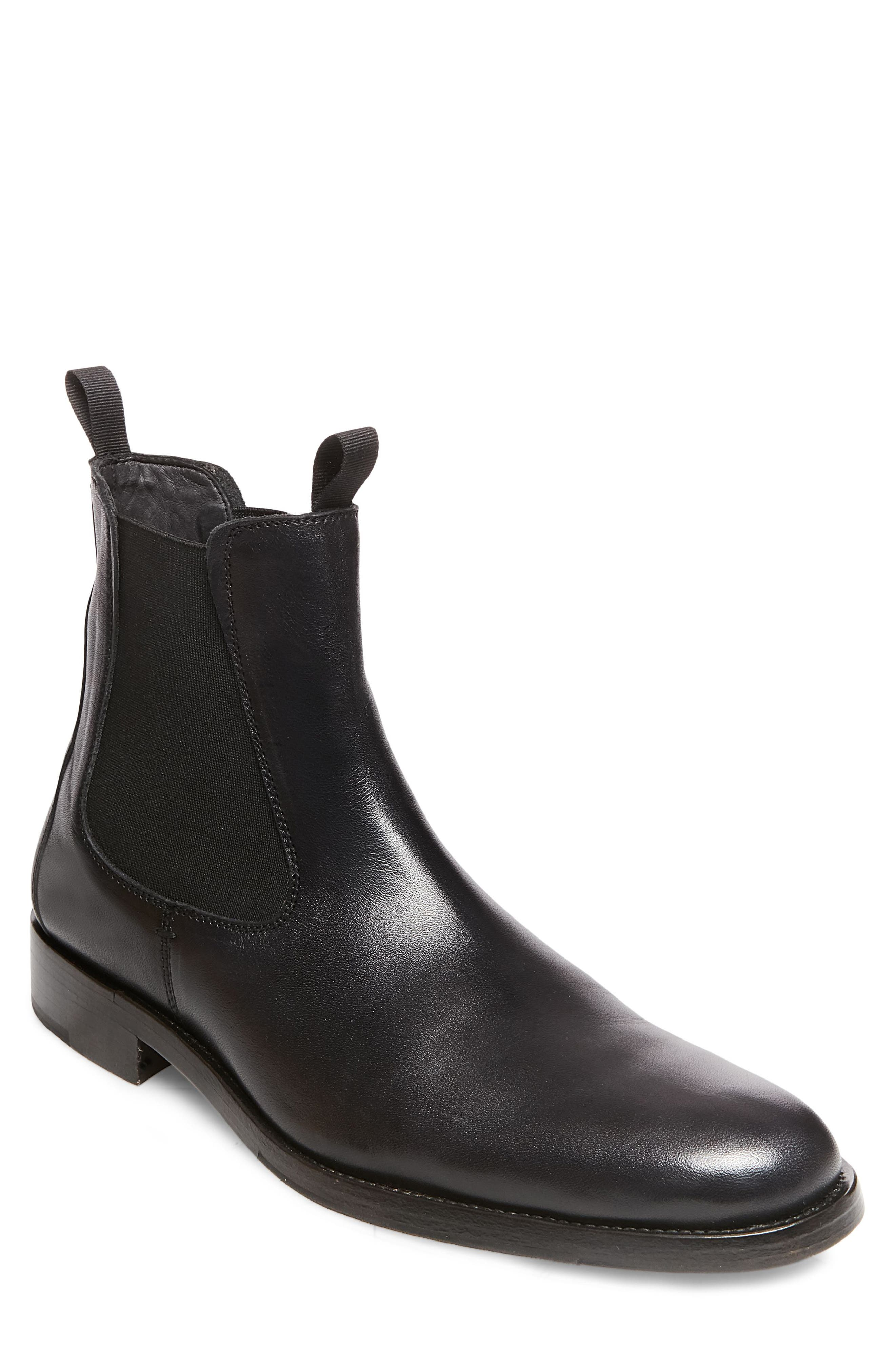 x GQ Nick Chelsea Boot,                         Main,                         color, Black Leather