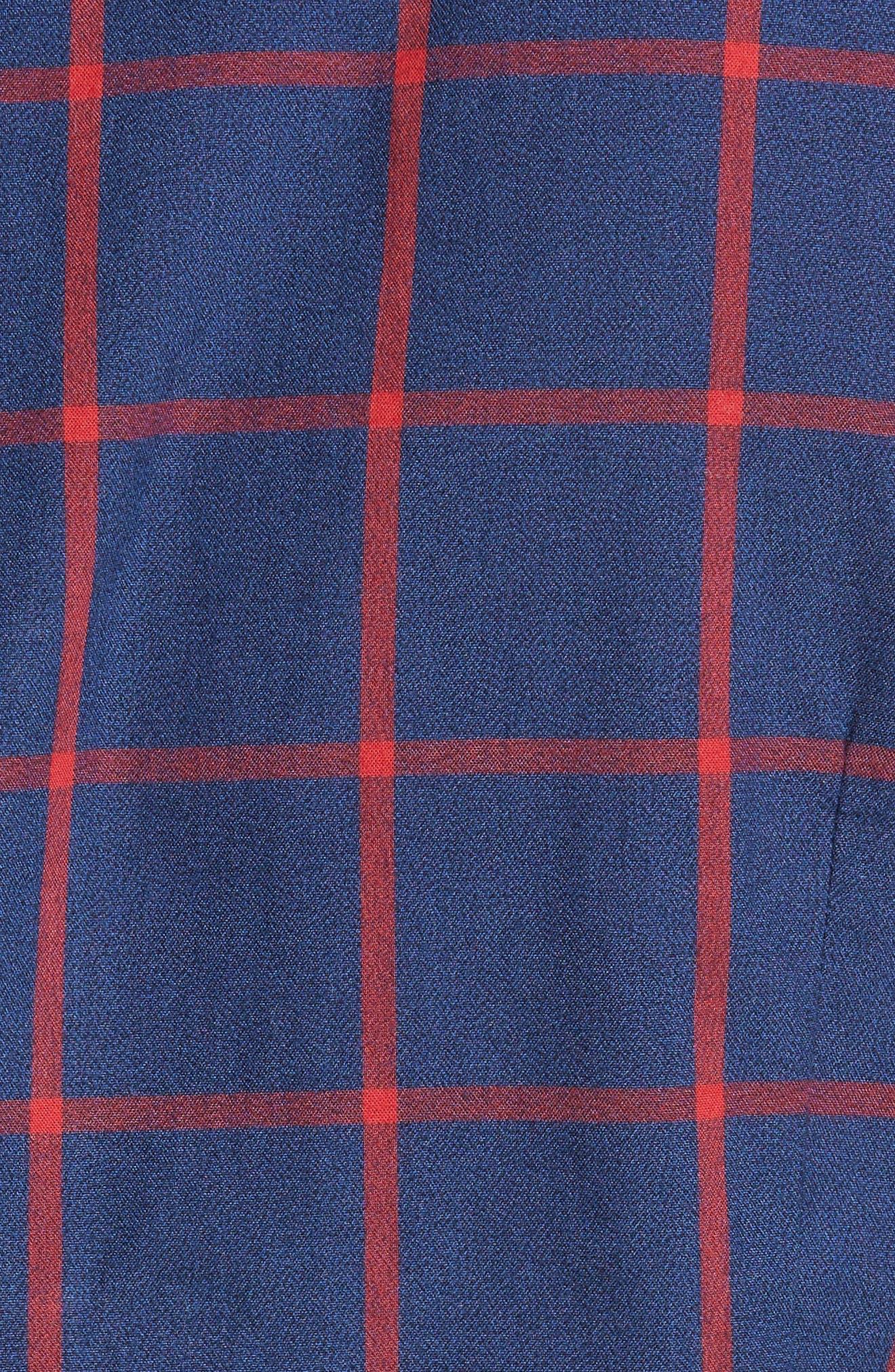 Baxter Tattersall Sport Shirt,                             Alternate thumbnail 5, color,                             Navy