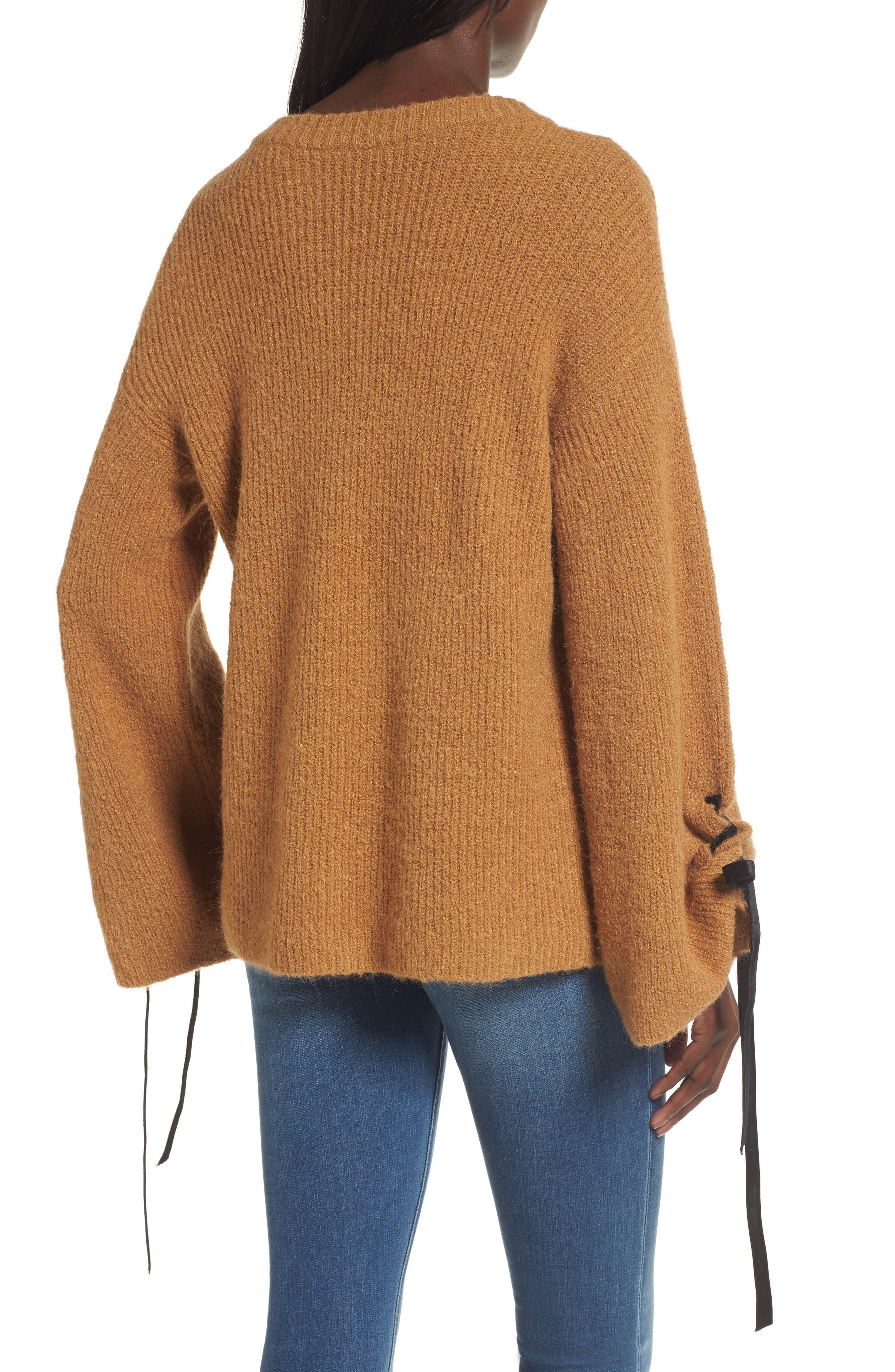 Alternate Image 2  - BP. Lace-Up Sleeve Sweater