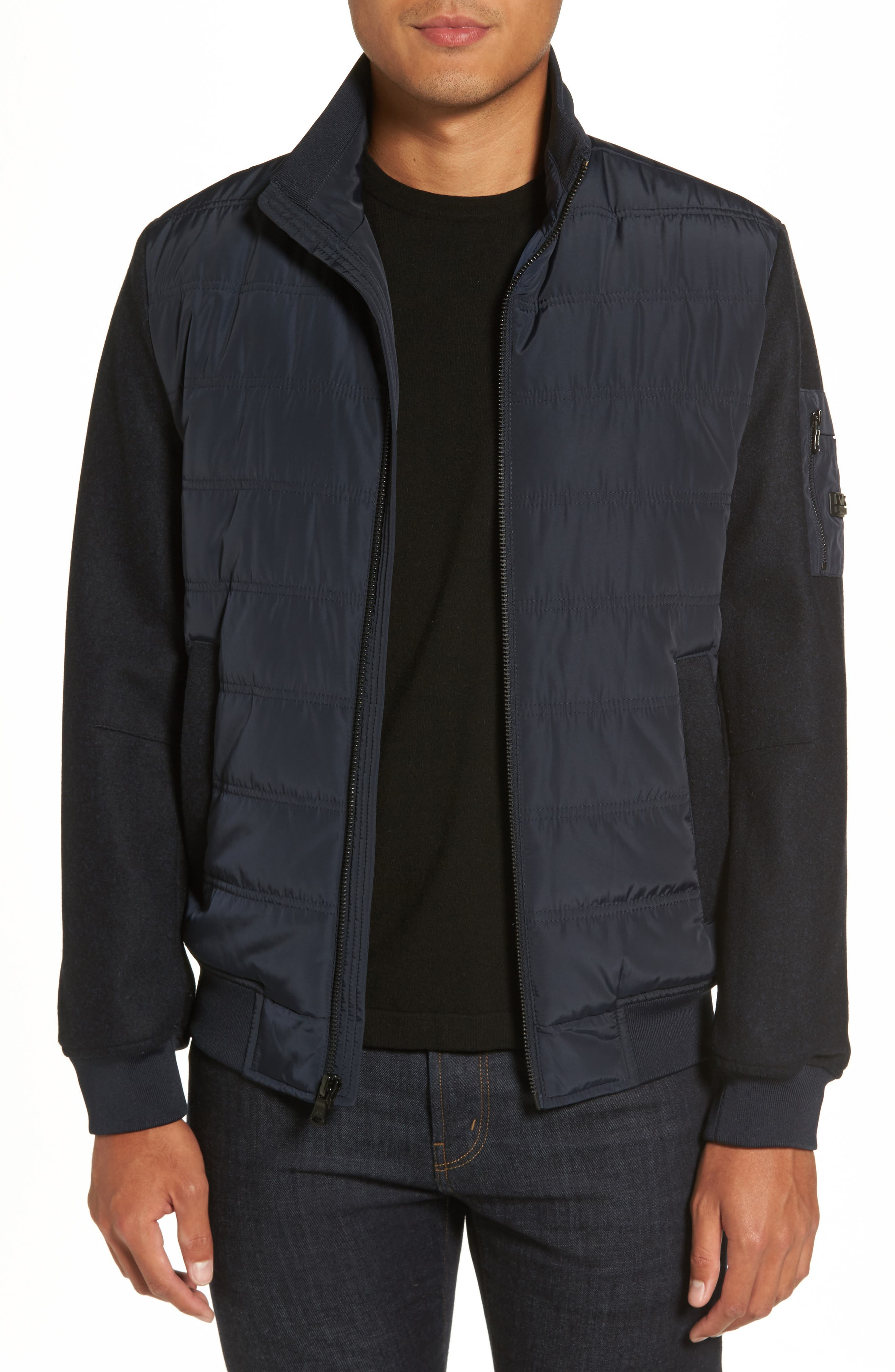 Michael Kors Mixed Media Quilted Jacket