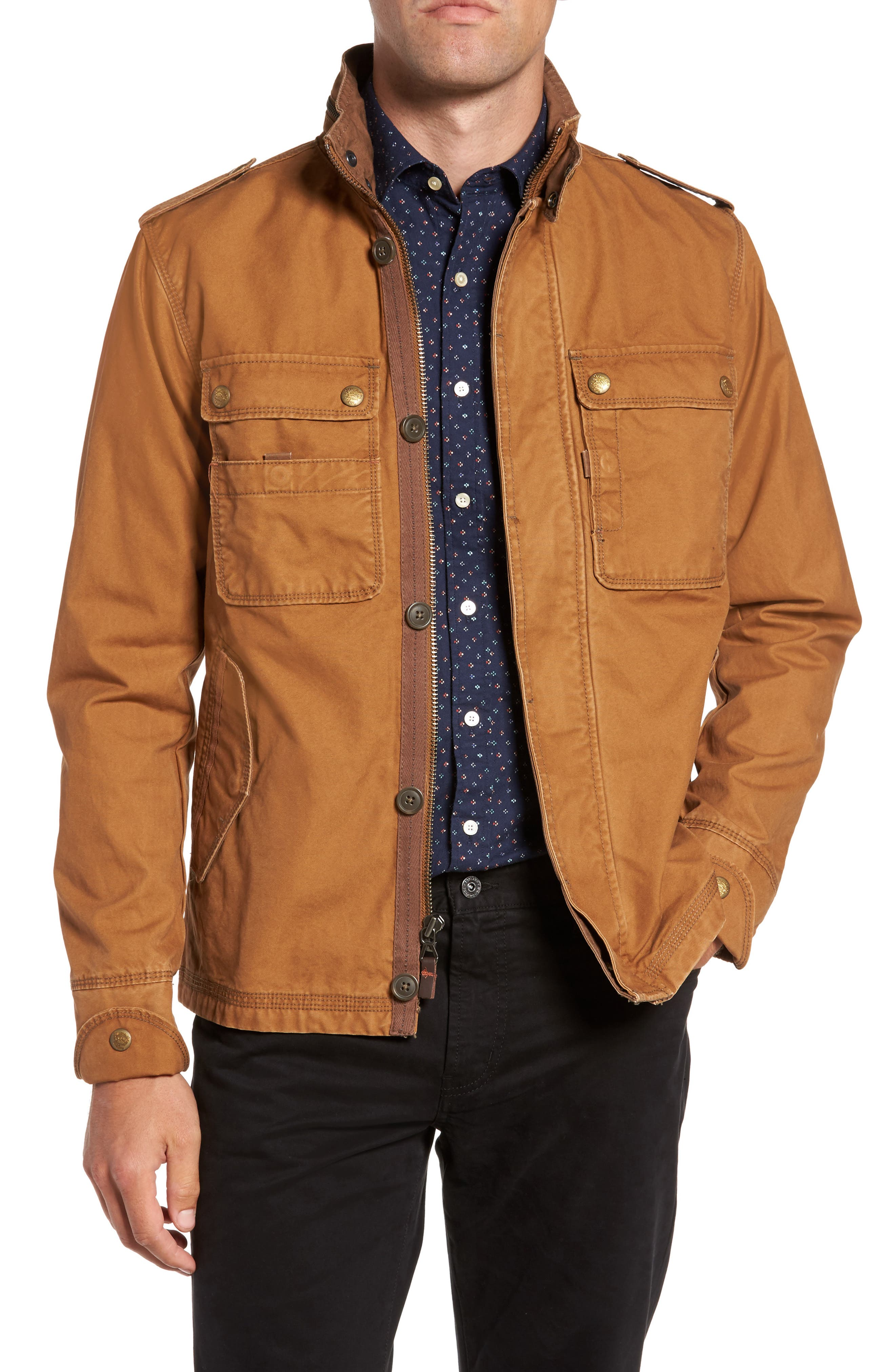 'Paxton' Military Jacket with Stowaway Hood,                         Main,                         color, Rosewood