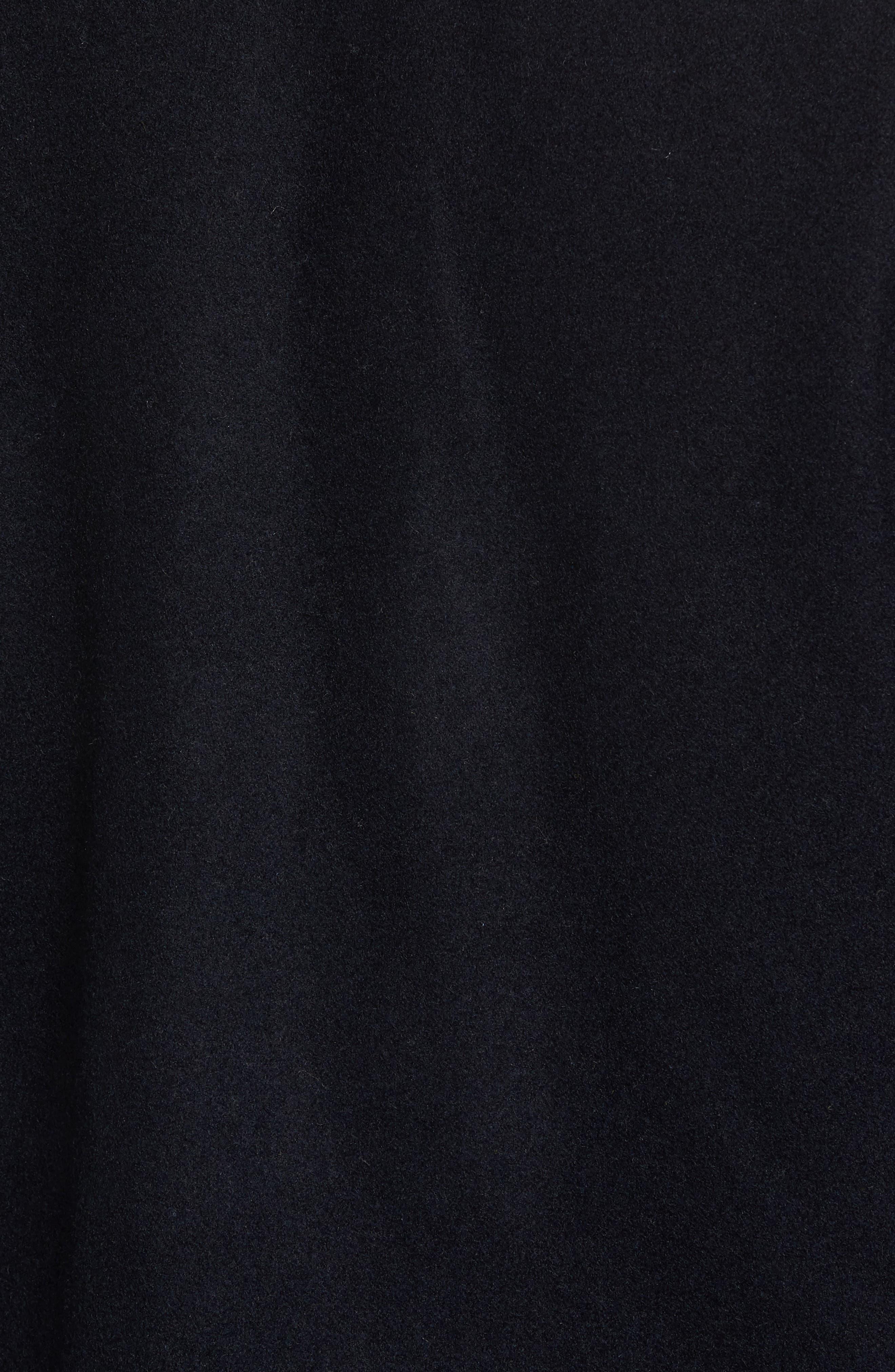 Fleece Collar Wool Blend A-2 Jacket,                             Alternate thumbnail 5, color,                             Officer Navy