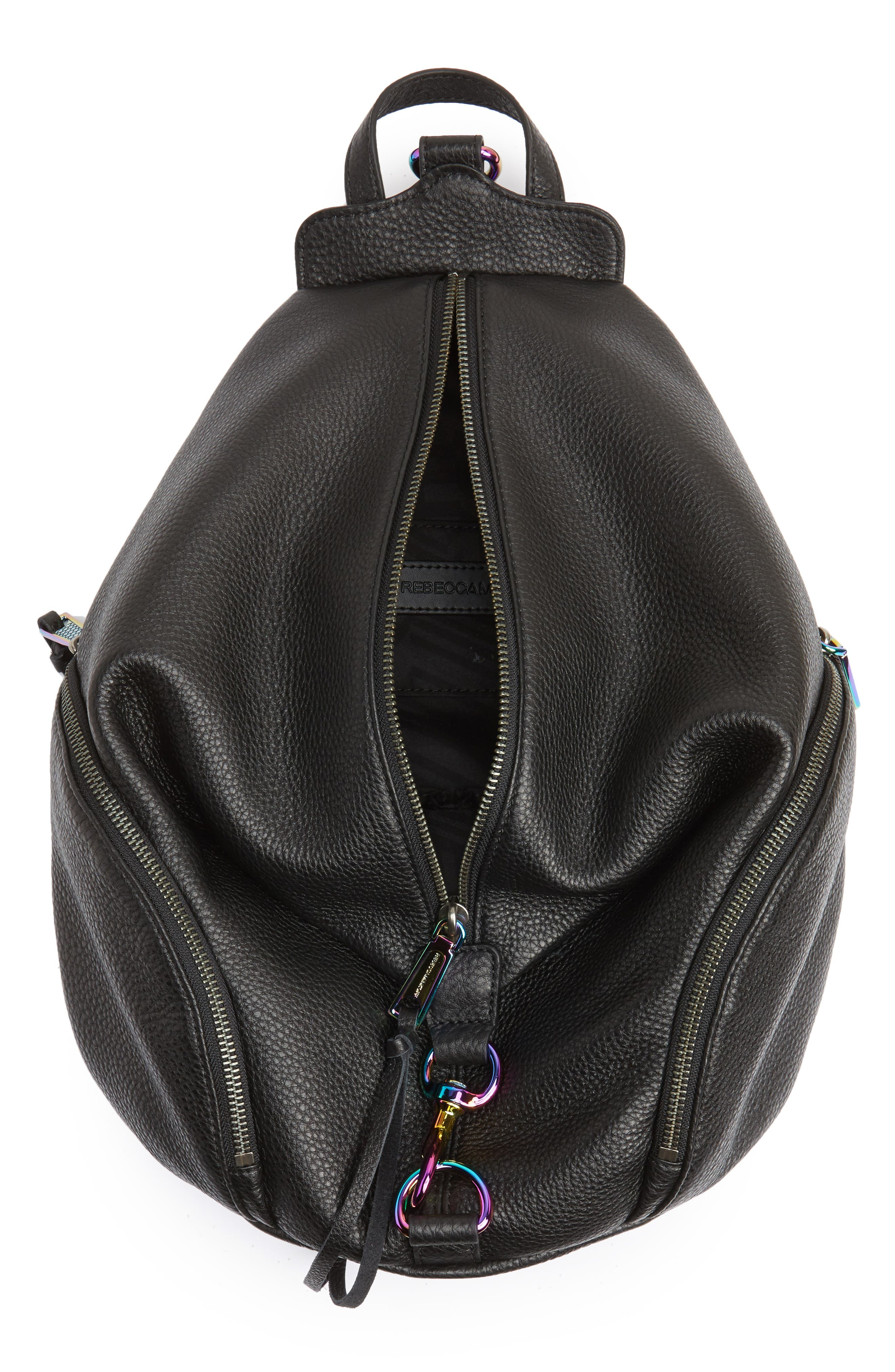 Alternate Image 4  - Rebecca Minkoff Julian Always On Charging Leather Backpack