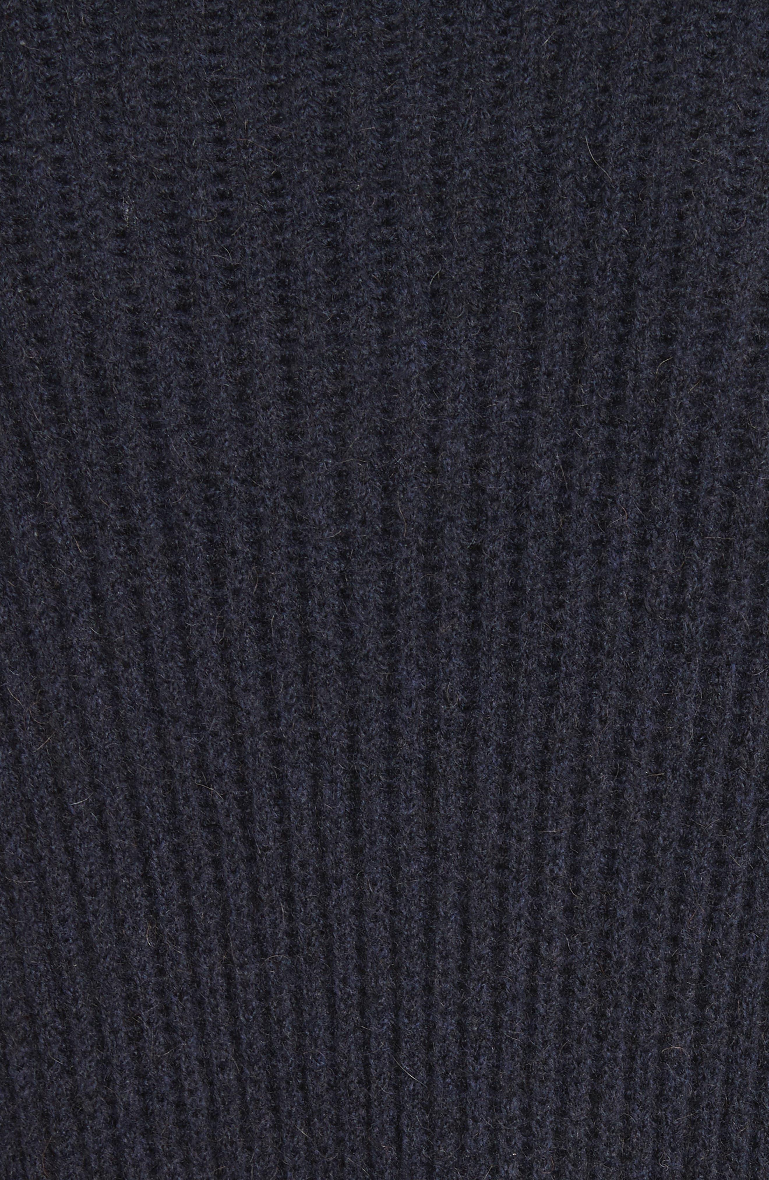 James Merino Wool Blend Cardigan,                             Alternate thumbnail 7, color,                             Midnight