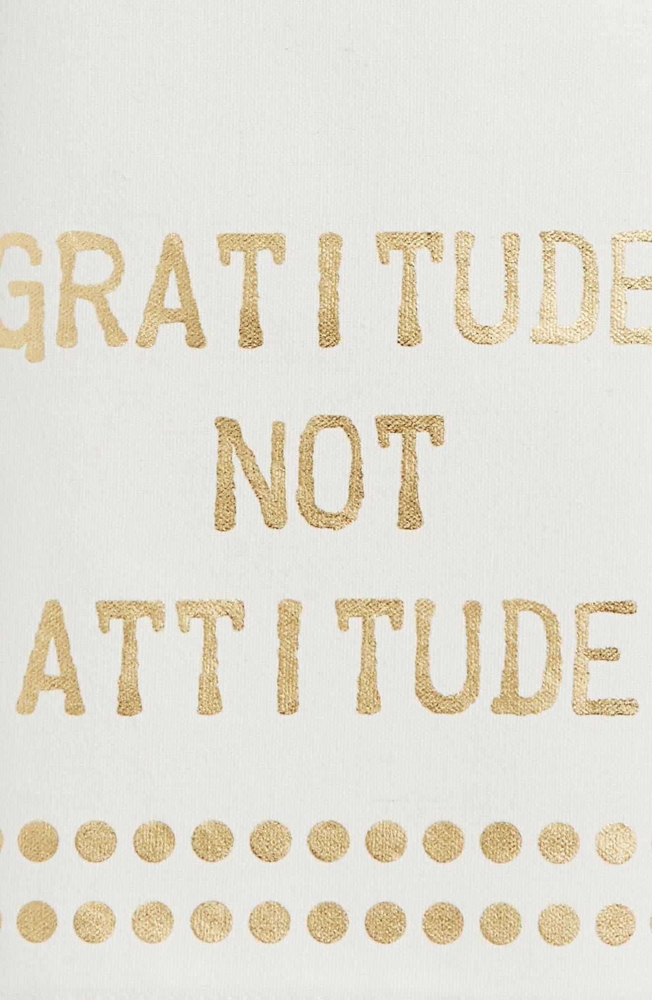 Gratitude Not Attitude Set of 2 Dish Towels,                             Alternate thumbnail 2, color,                             Gold
