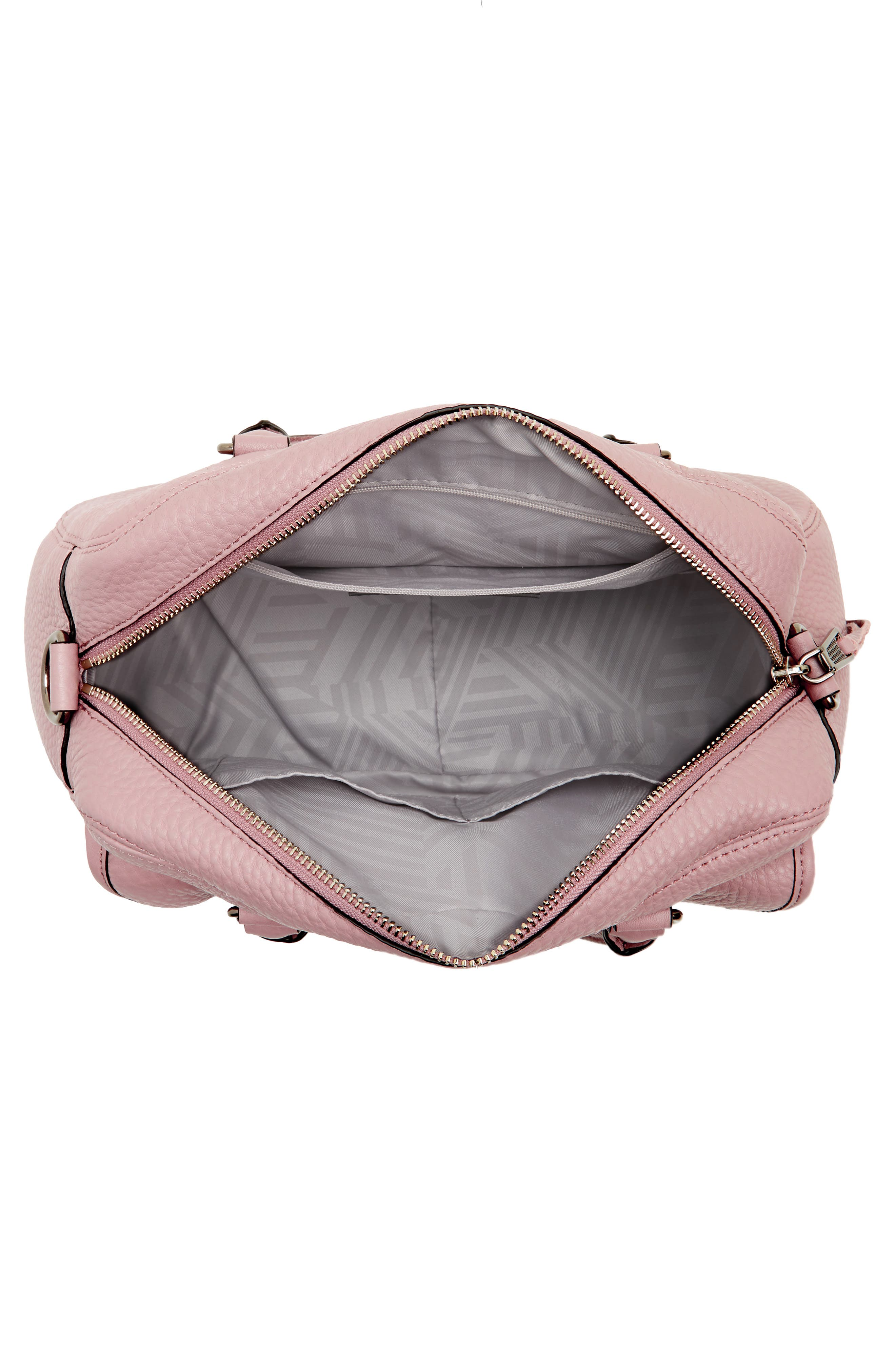 Military Pocket Leather Satchel,                             Alternate thumbnail 4, color,                             Vintage Pink