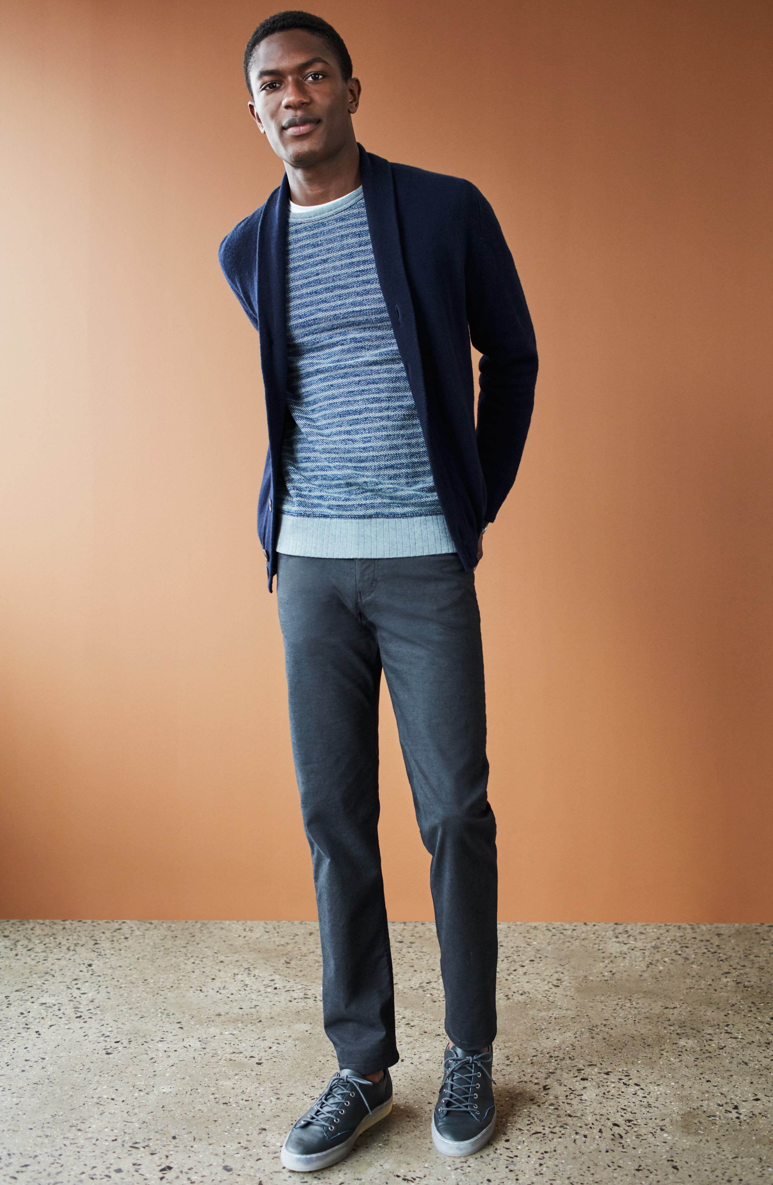 Alternate Image 7  - Brax Five-Pocket Stretch Cotton Trousers