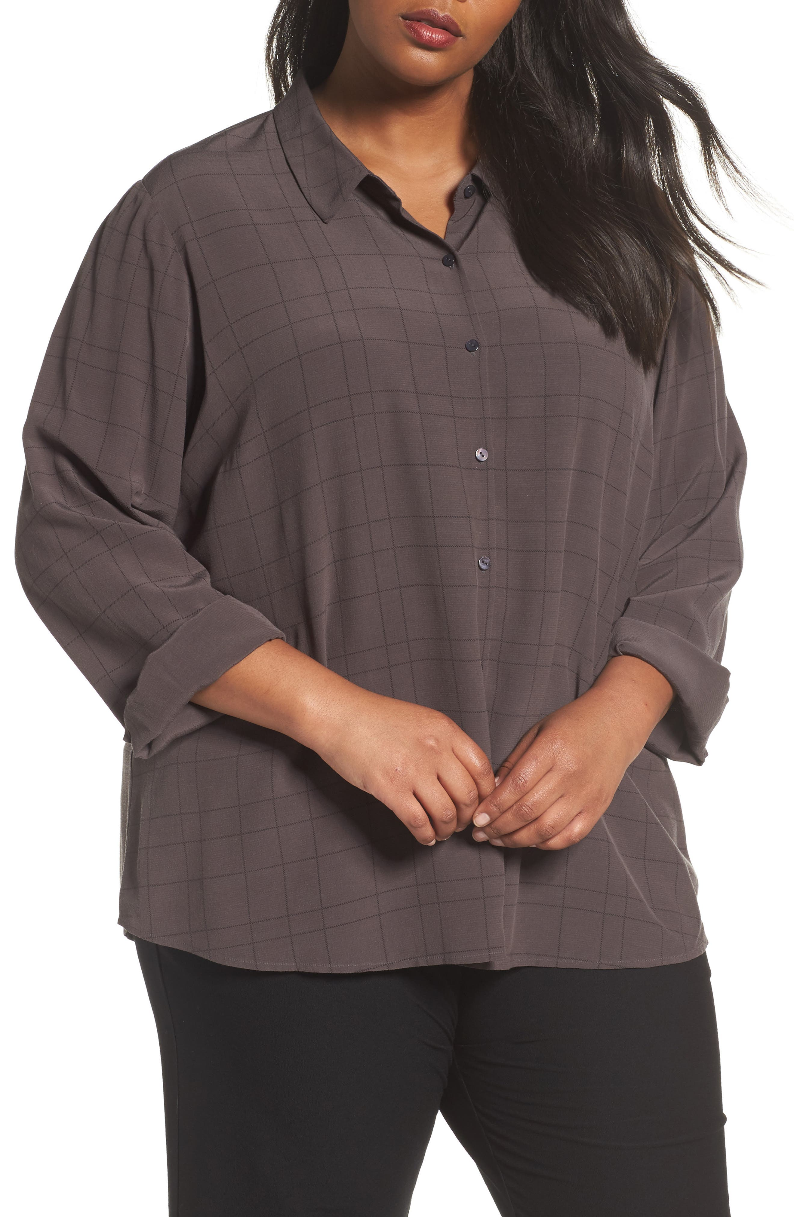 EILEEN FISHER Tencel<sup>®</sup> Blend Shirt
