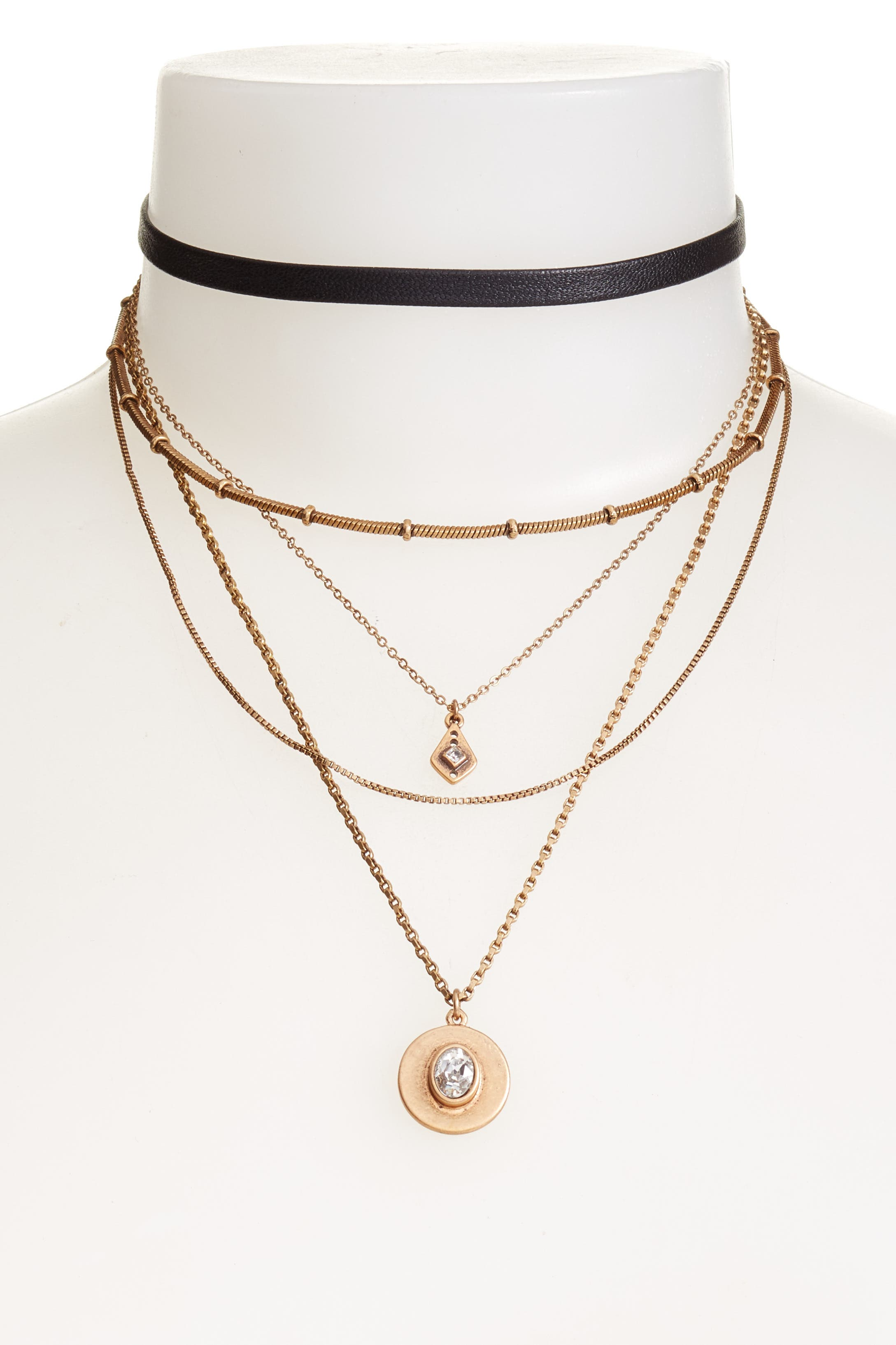 Treasure & Bond Multstrand Choker Necklace