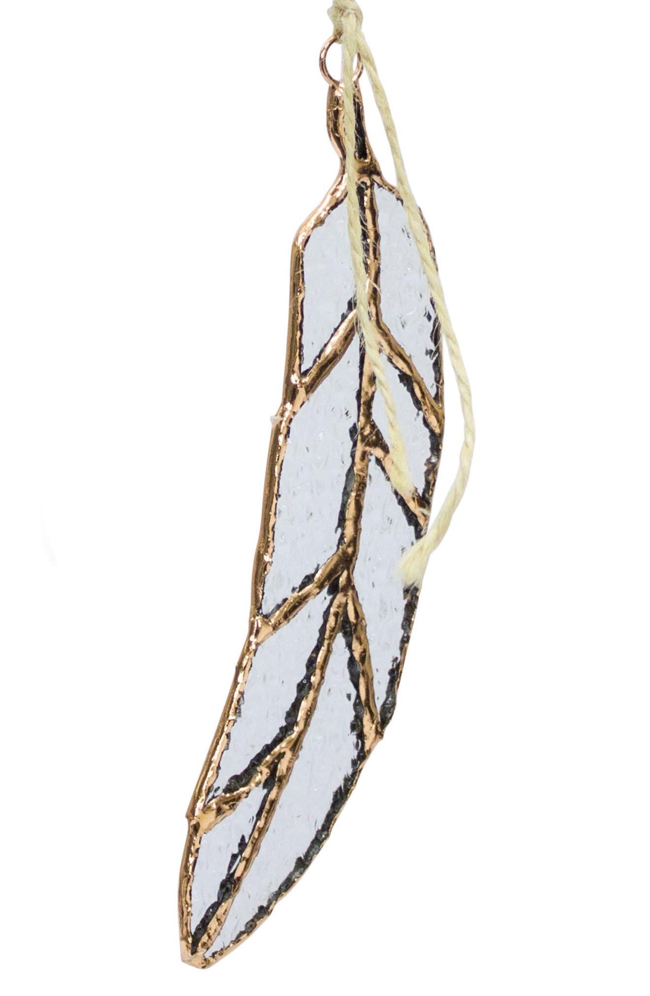 Melrose Leaf Ornament,                         Main,                         color, Gold
