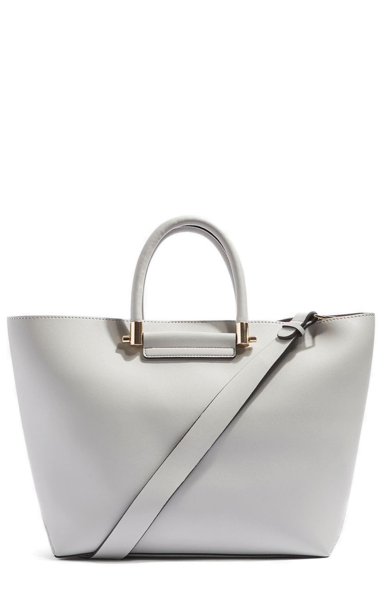 TOPSHOP Simona Faux Leather Shopper