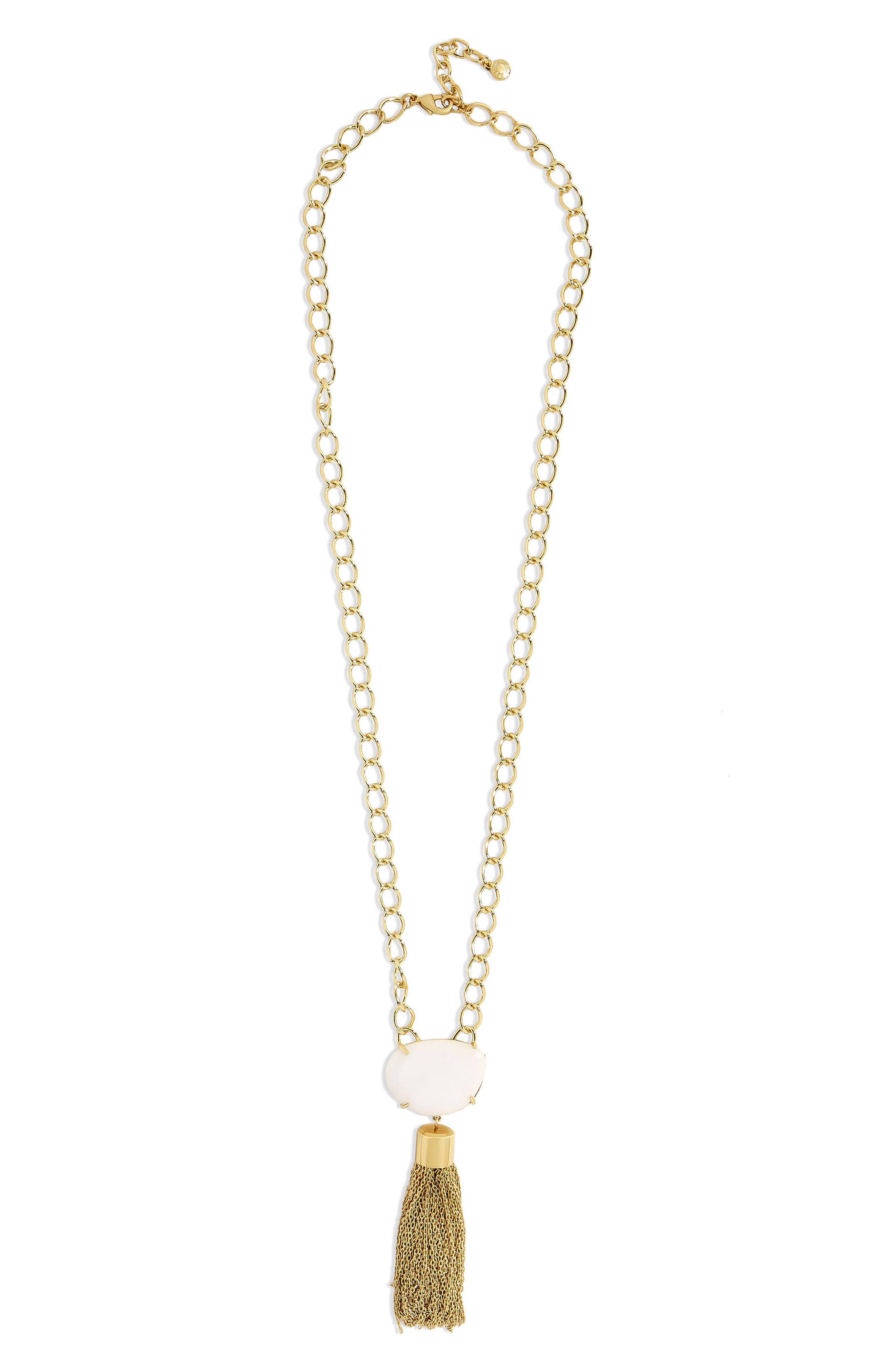 BaubleBar Carisma Chain Link Tassel Pendant Necklace